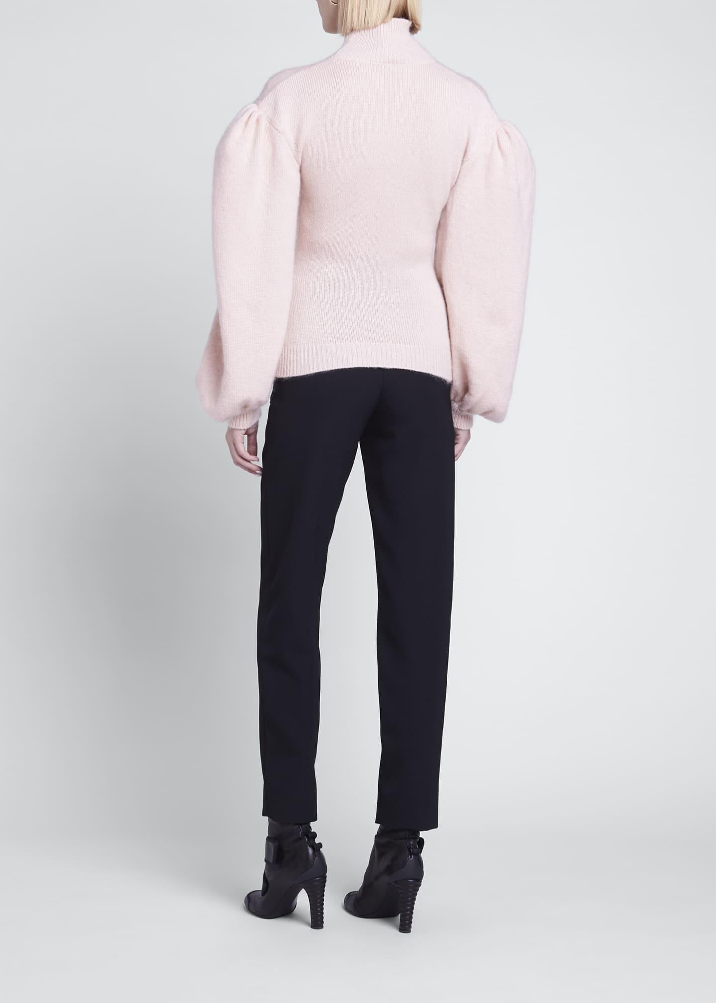 Image 2 of 3: Boned Cashmere-Blend Sweater