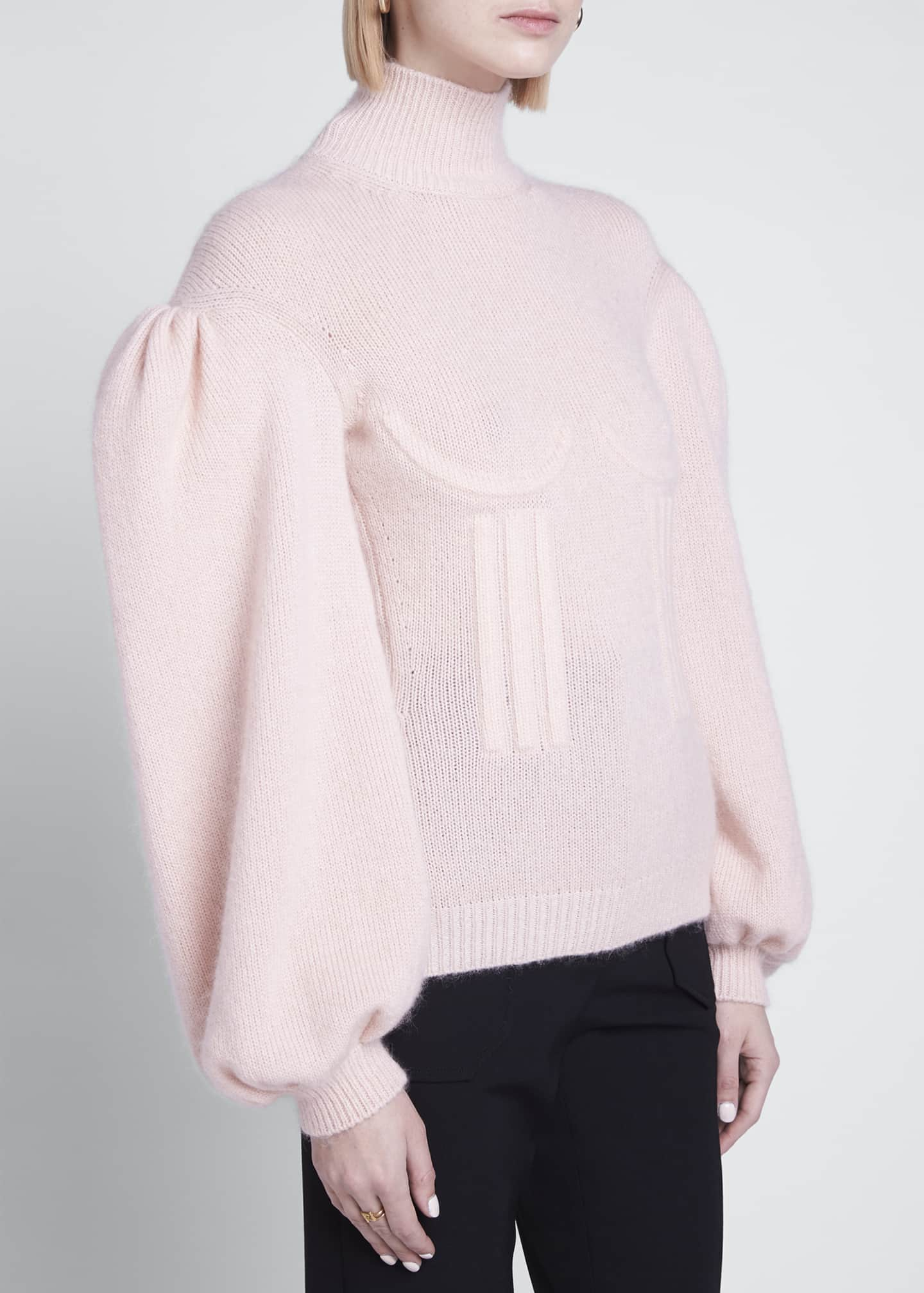 Image 3 of 3: Boned Cashmere-Blend Sweater