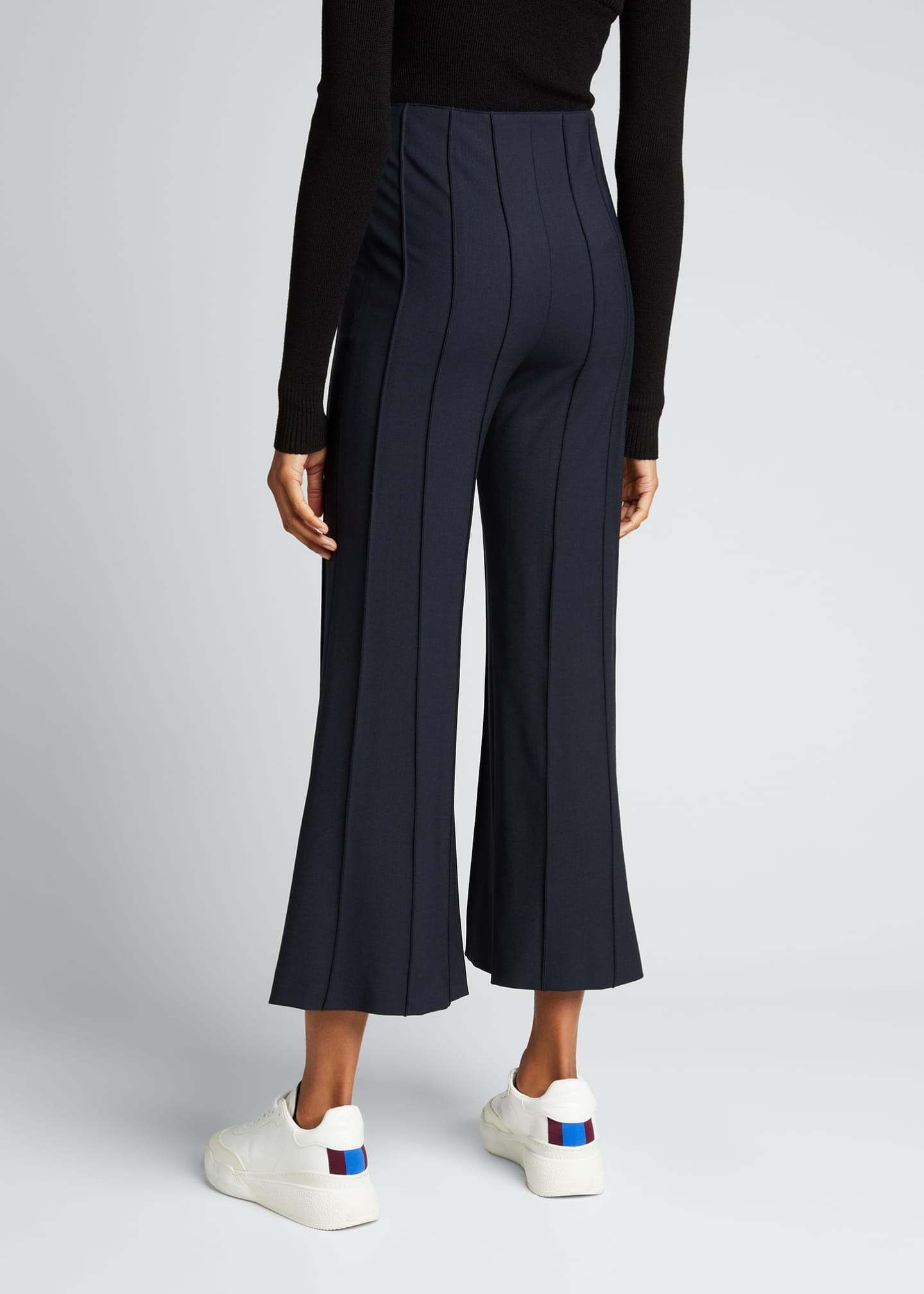Image 2 of 5: Cropped Flare Pintuck Pants