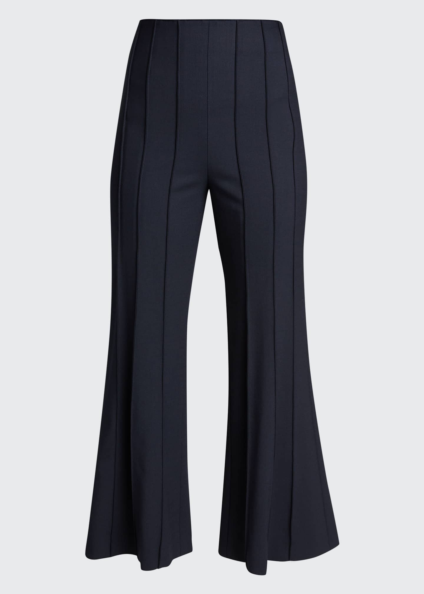 Image 5 of 5: Cropped Flare Pintuck Pants