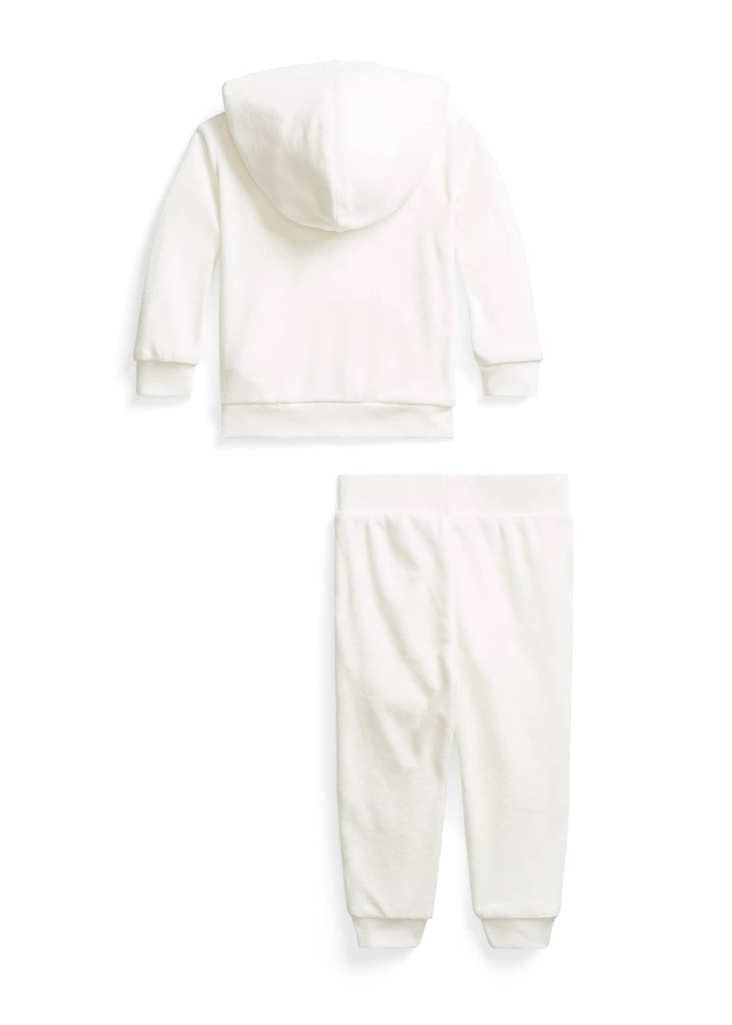 Image 2 of 2: Girl's Velour Two-Piece Jogger Set, Size 9-24M