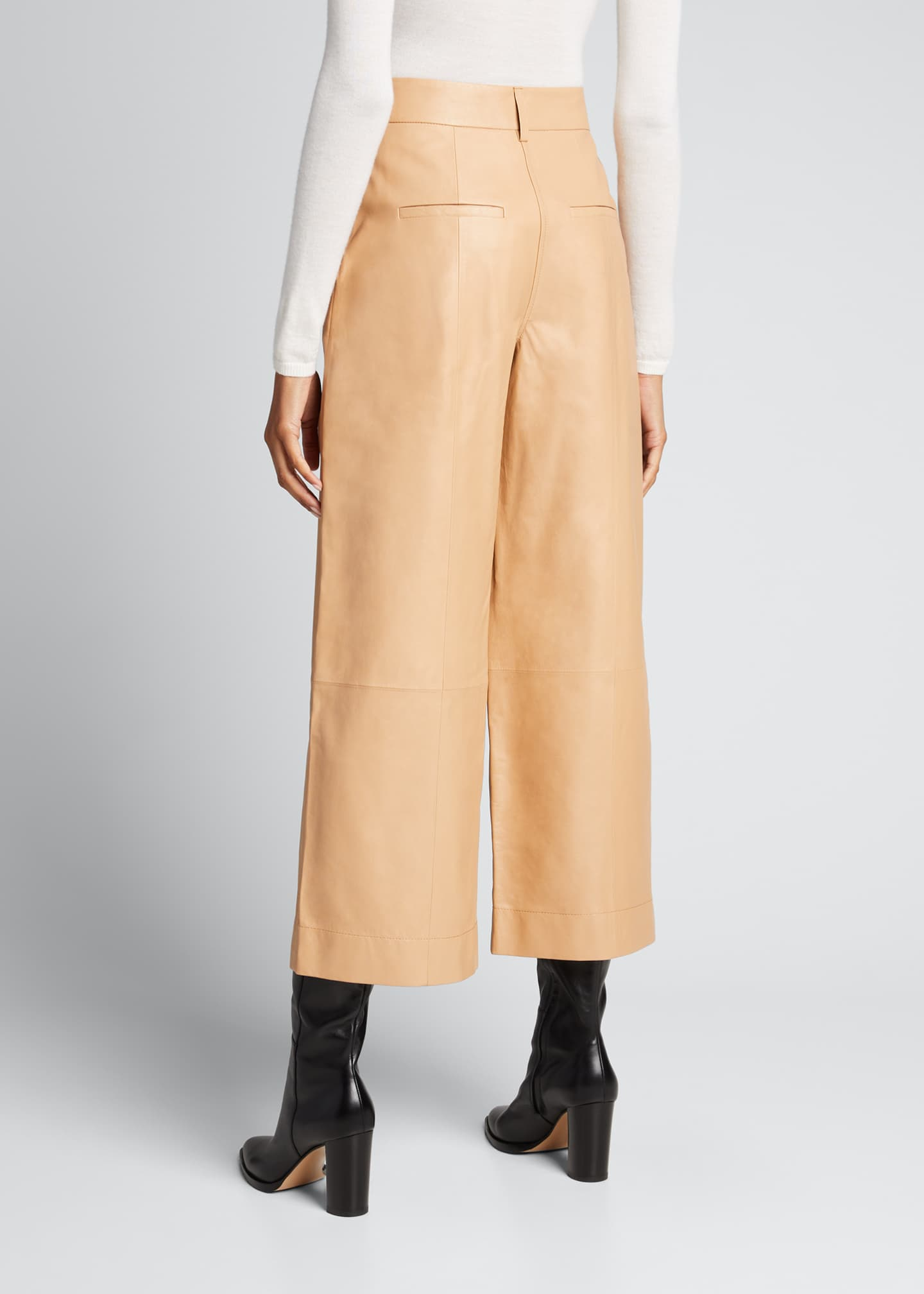 Image 2 of 4: Leather Culottes