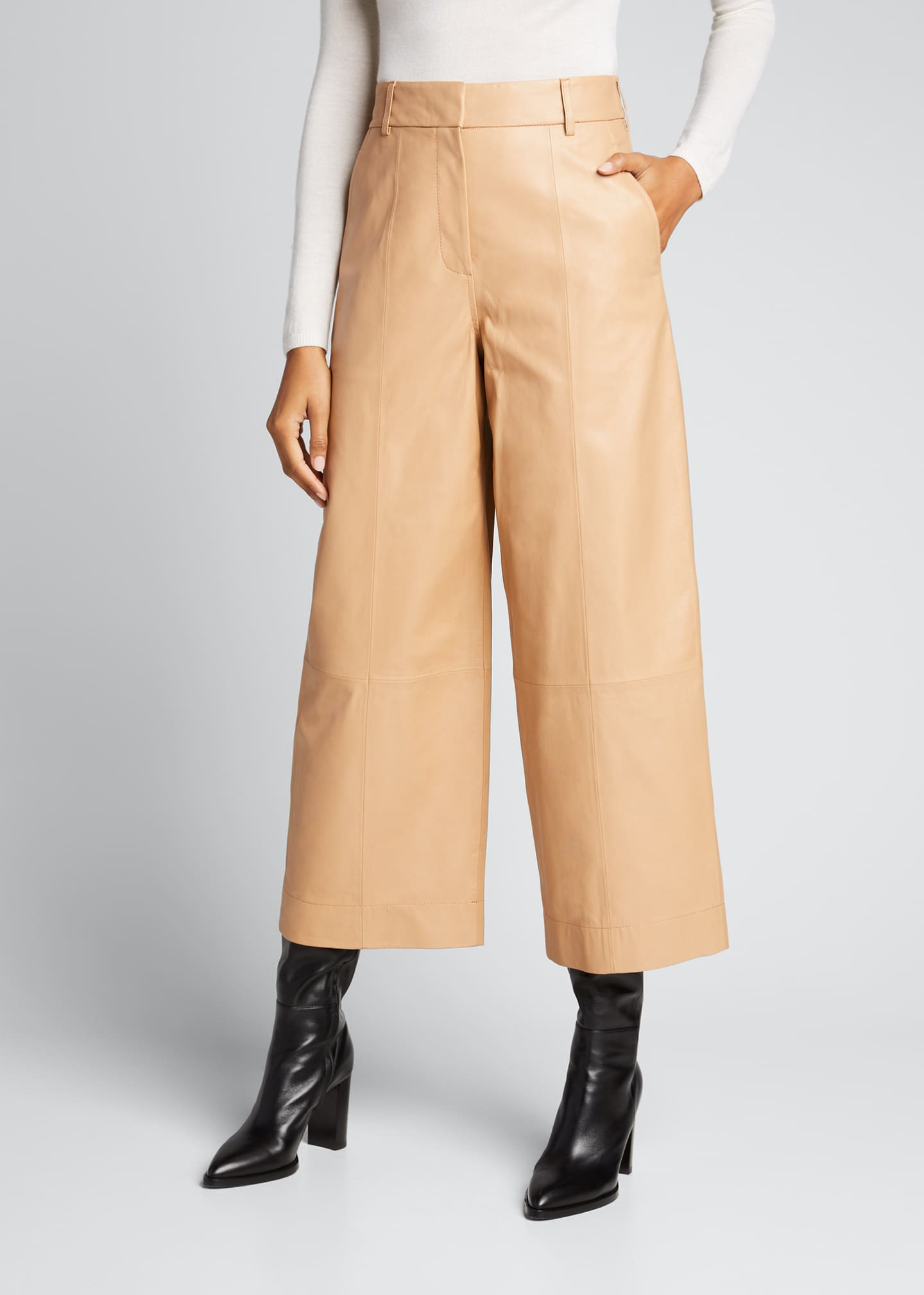Image 3 of 4: Leather Culottes