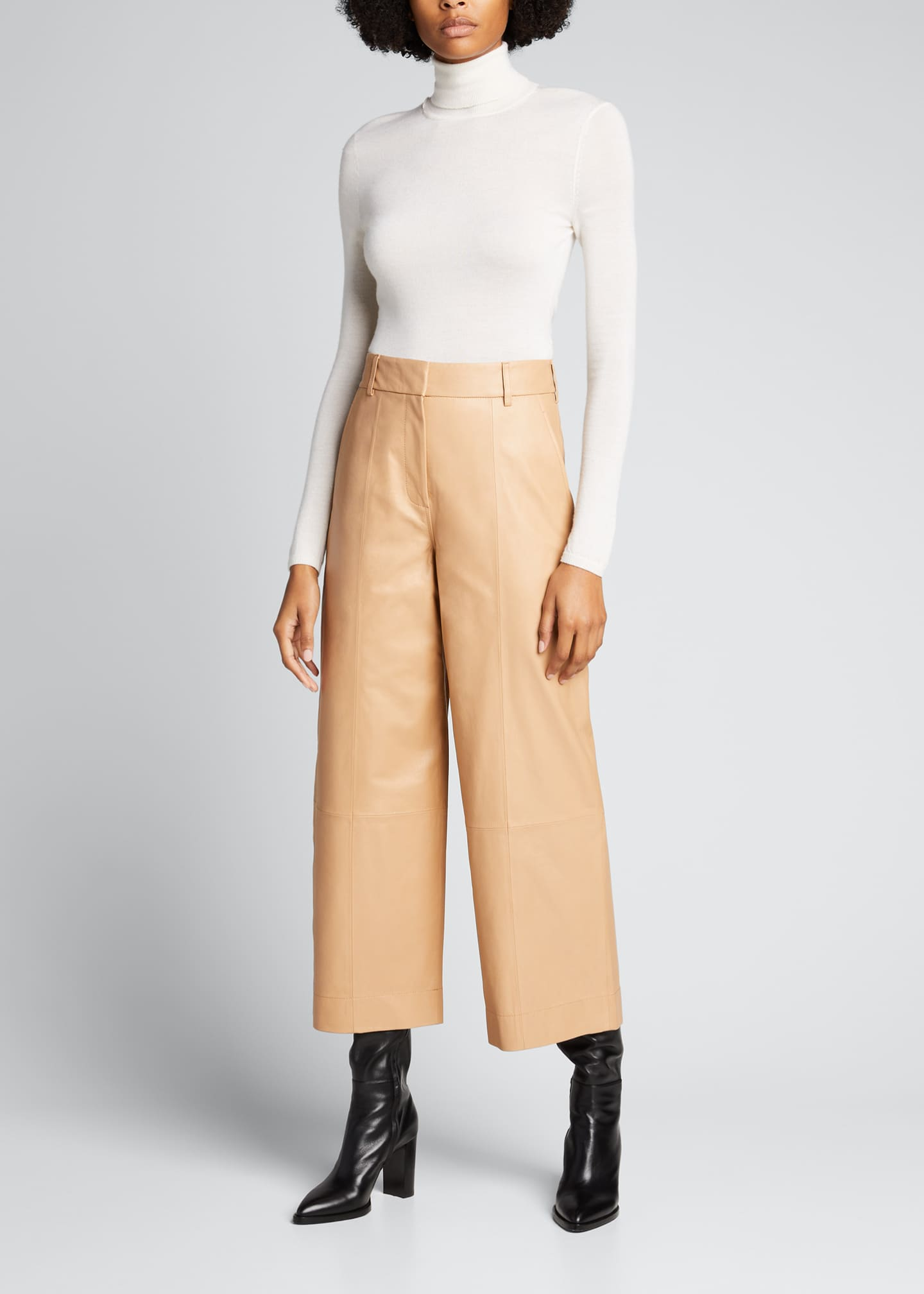 Image 1 of 4: Leather Culottes