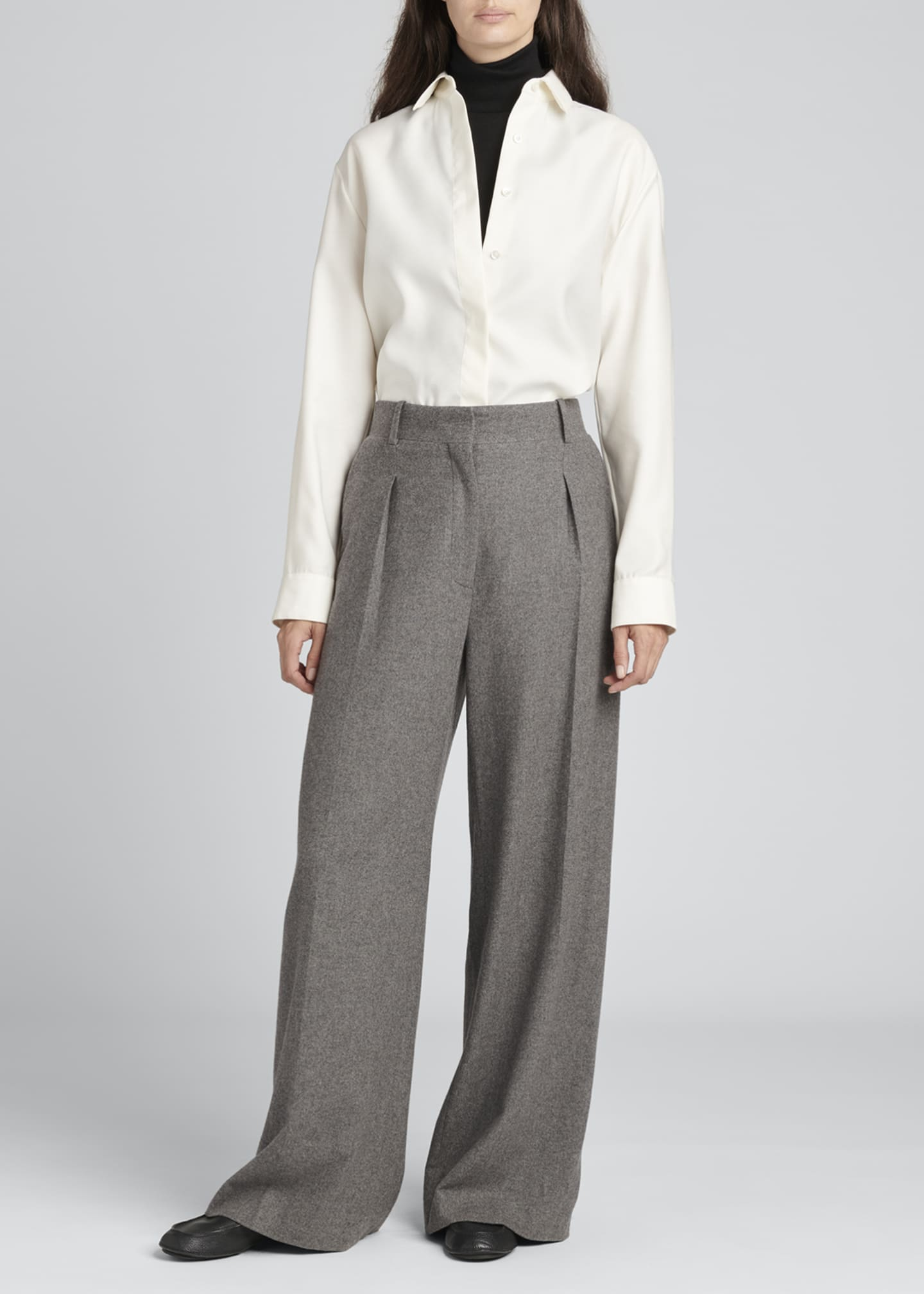 Image 1 of 3: Philly Pintuck Cashmere Pants