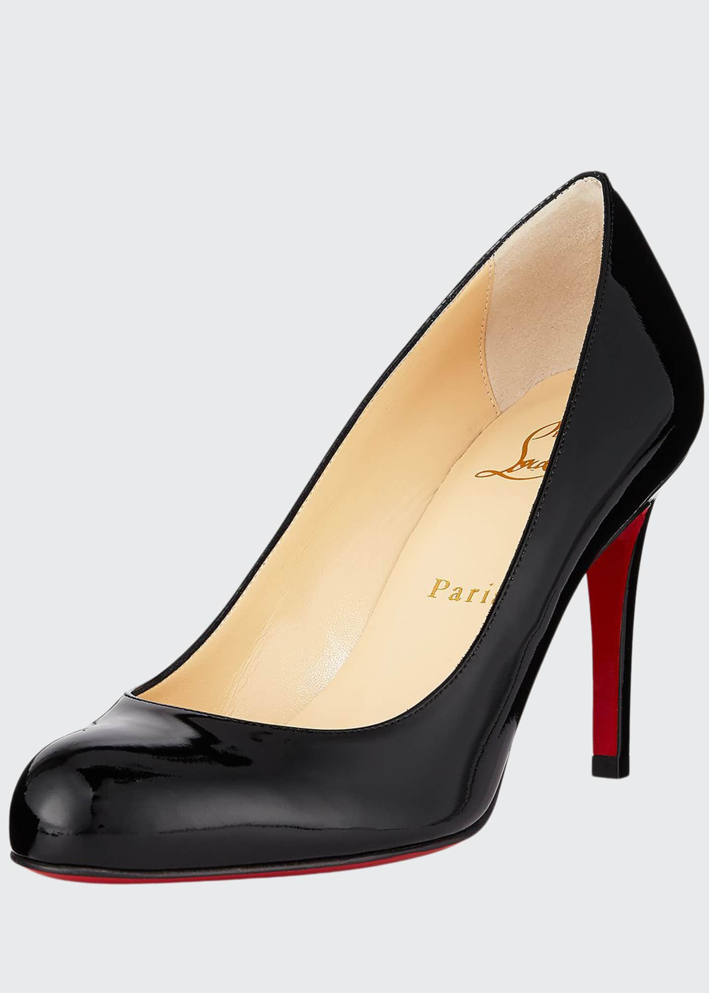 Christian Louboutin Simple Patent 85mm Red Sole Pumps