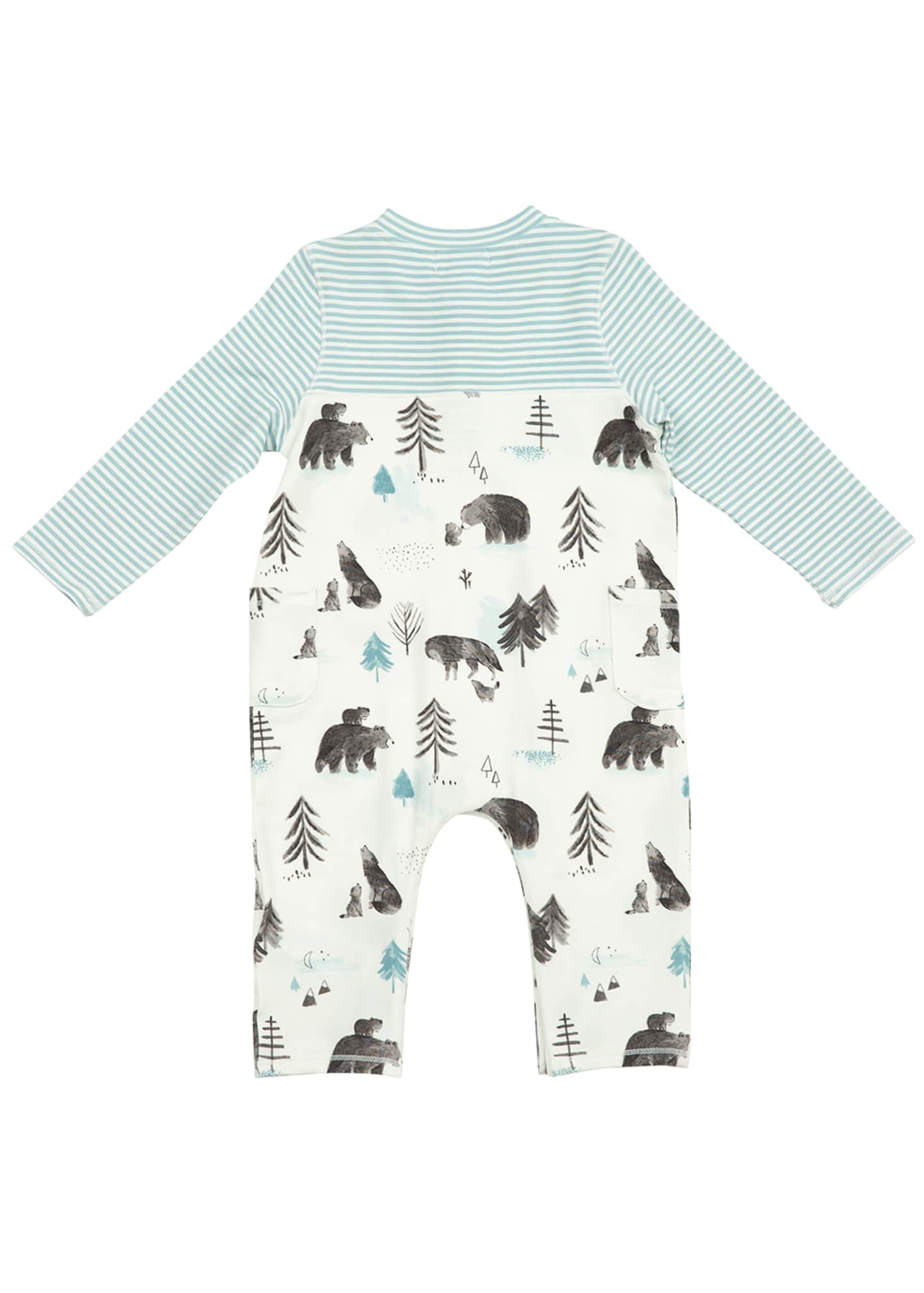 Image 2 of 2: Boy's Mixed Mama & Cub Printed Coverall, Size 0-12M