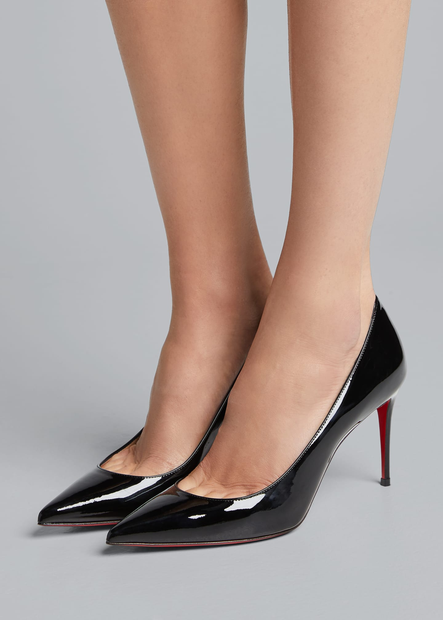 Image 2 of 5: Decollete 85mm Patent Leather Red Sole Pump
