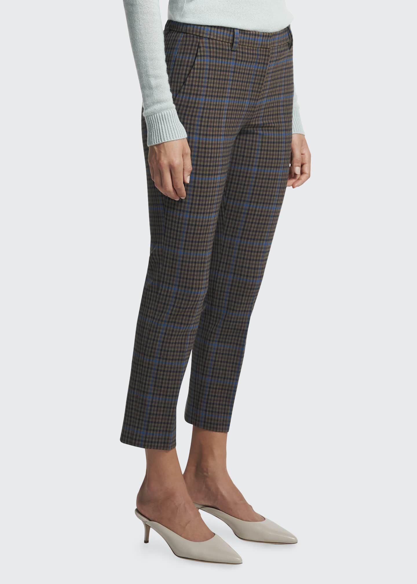 Image 3 of 4: Treeca Plaid Ankle Pants