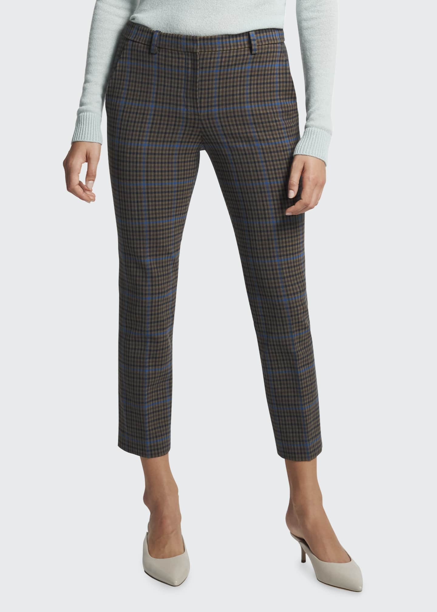 Image 1 of 4: Treeca Plaid Ankle Pants