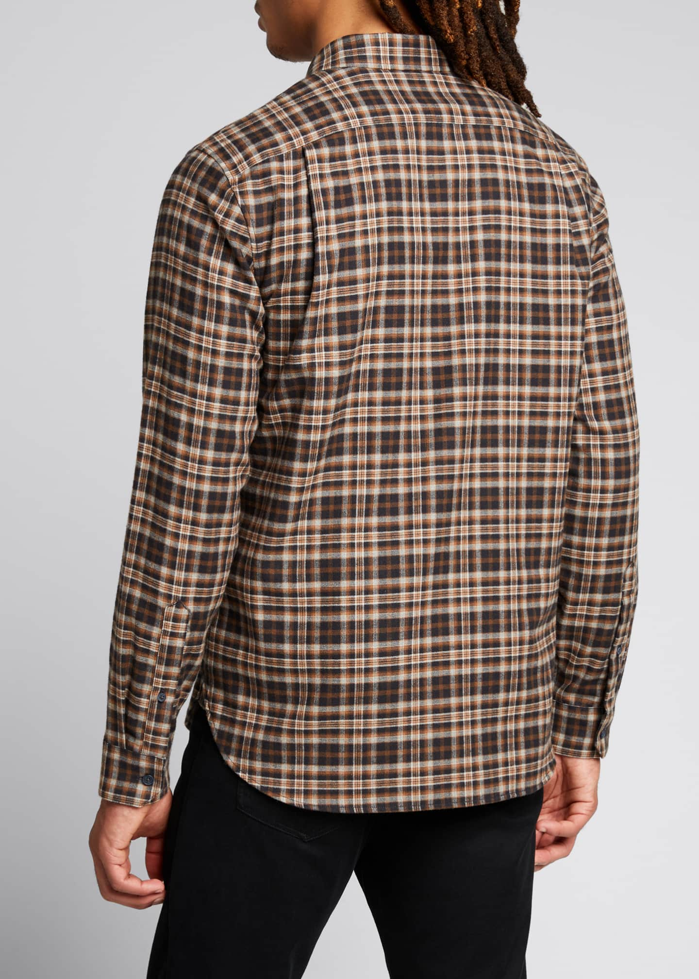 Image 2 of 5: Men's Brushed Plaid Sport Shirt