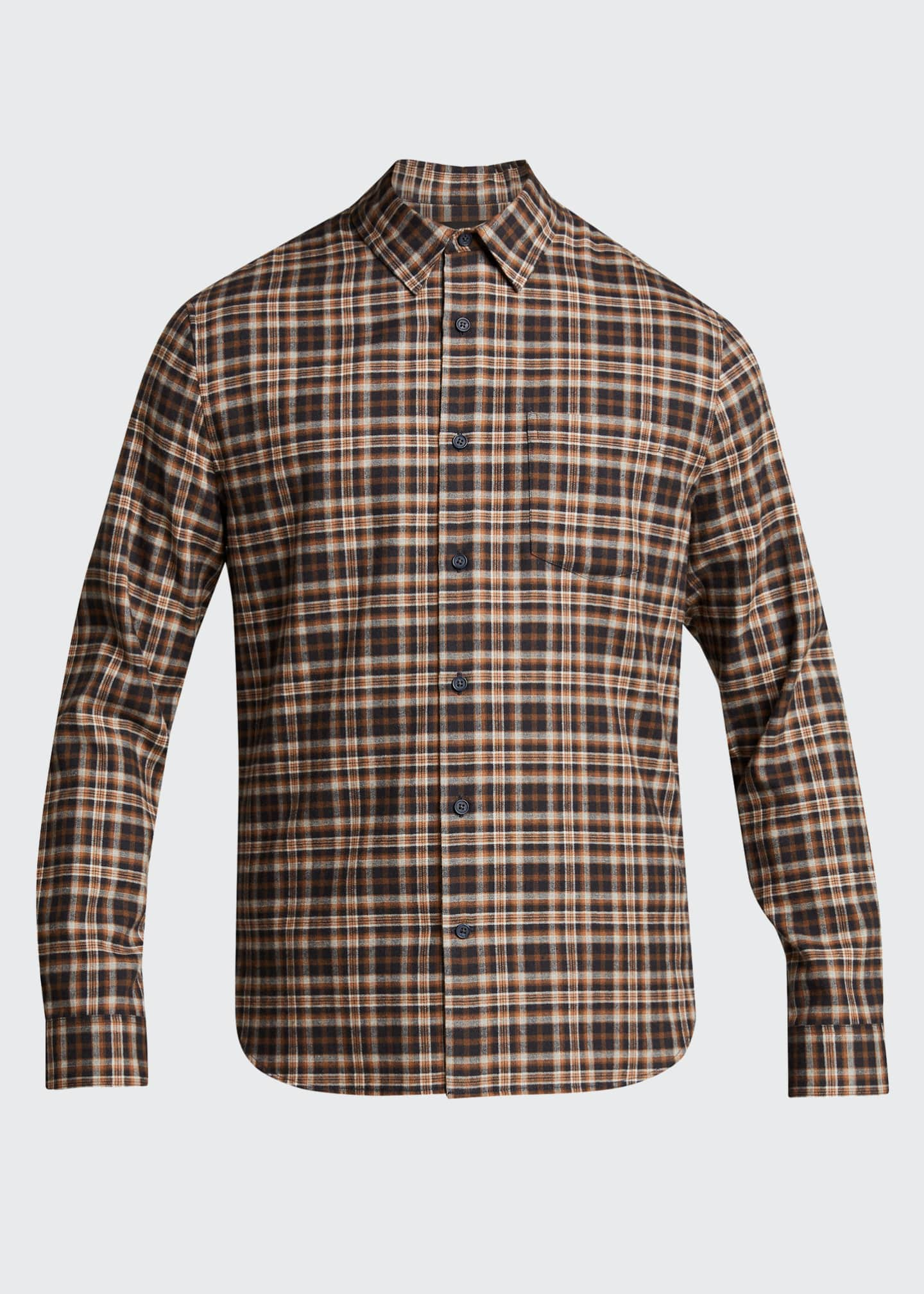 Image 5 of 5: Men's Brushed Plaid Sport Shirt