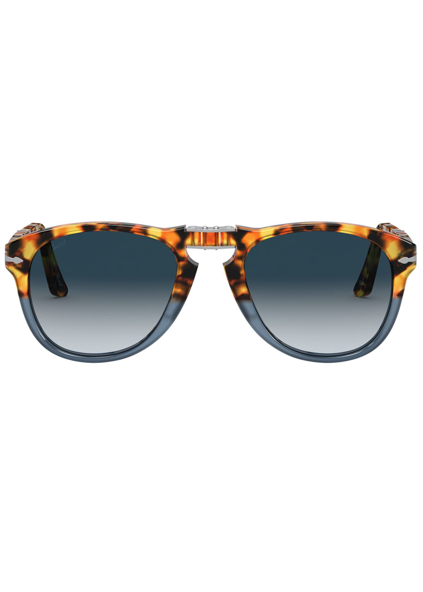 Image 2 of 4: Men's Gradient Tortoiseshell Acetate Folding Sunglasses