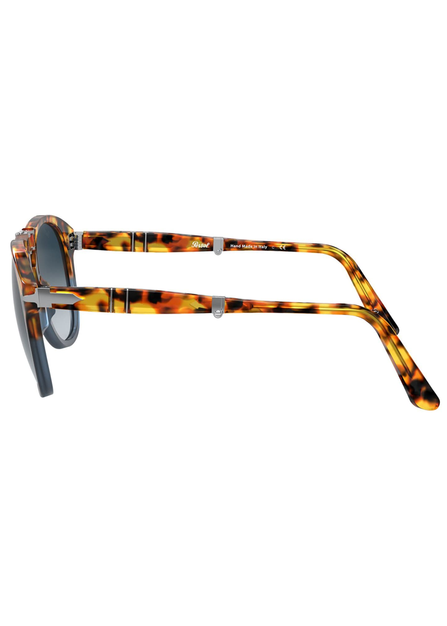 Image 3 of 4: Men's Gradient Tortoiseshell Acetate Folding Sunglasses