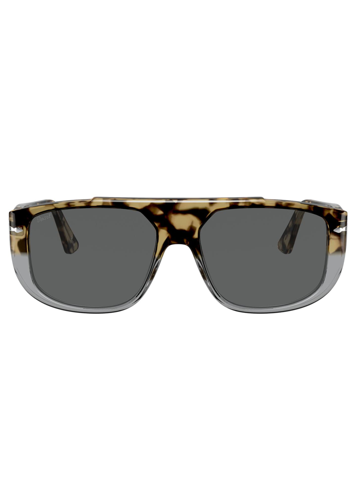 Image 2 of 4: Men's Square Colorblock Tortoiseshell Sunglasses