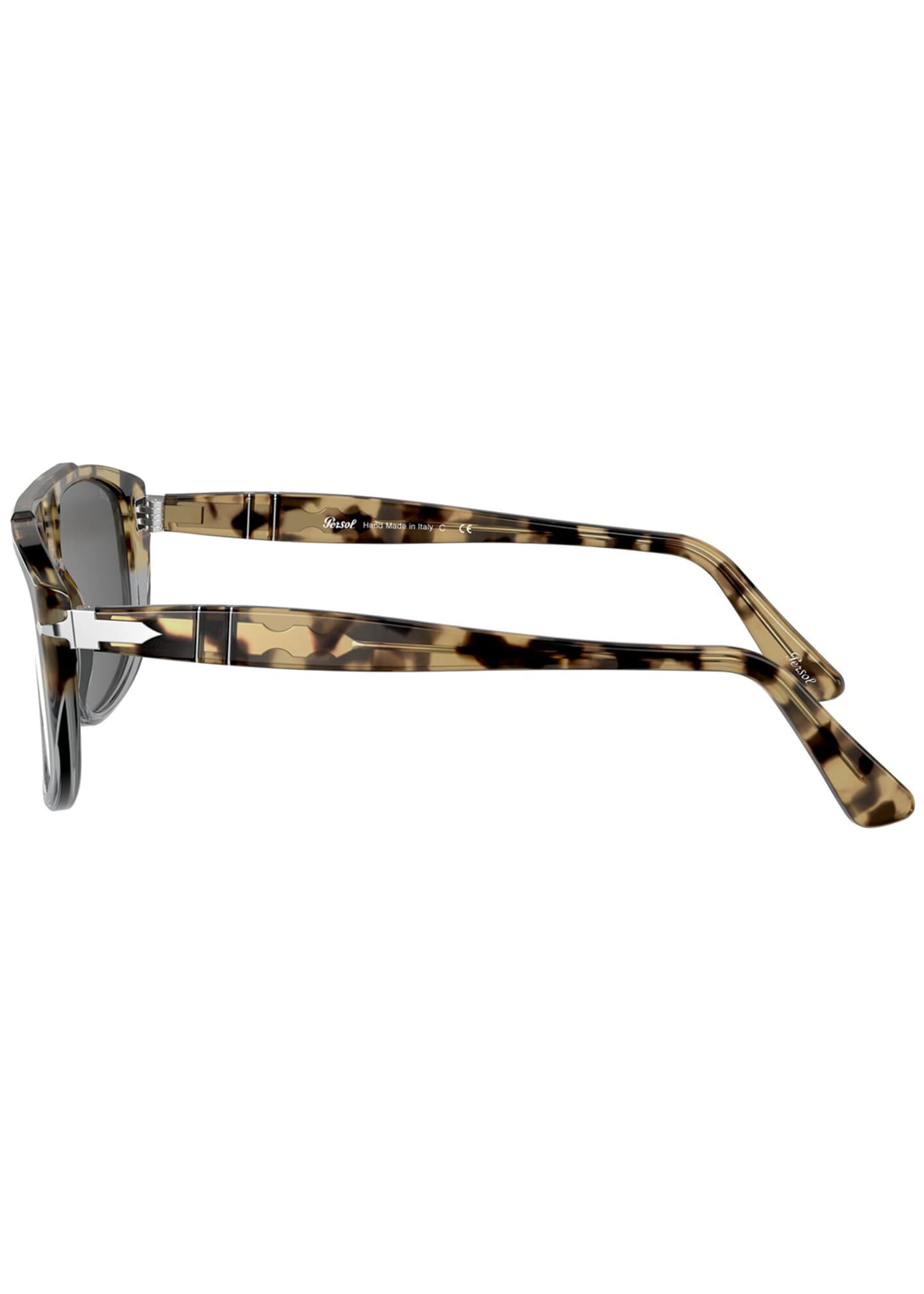 Image 3 of 4: Men's Square Colorblock Tortoiseshell Sunglasses