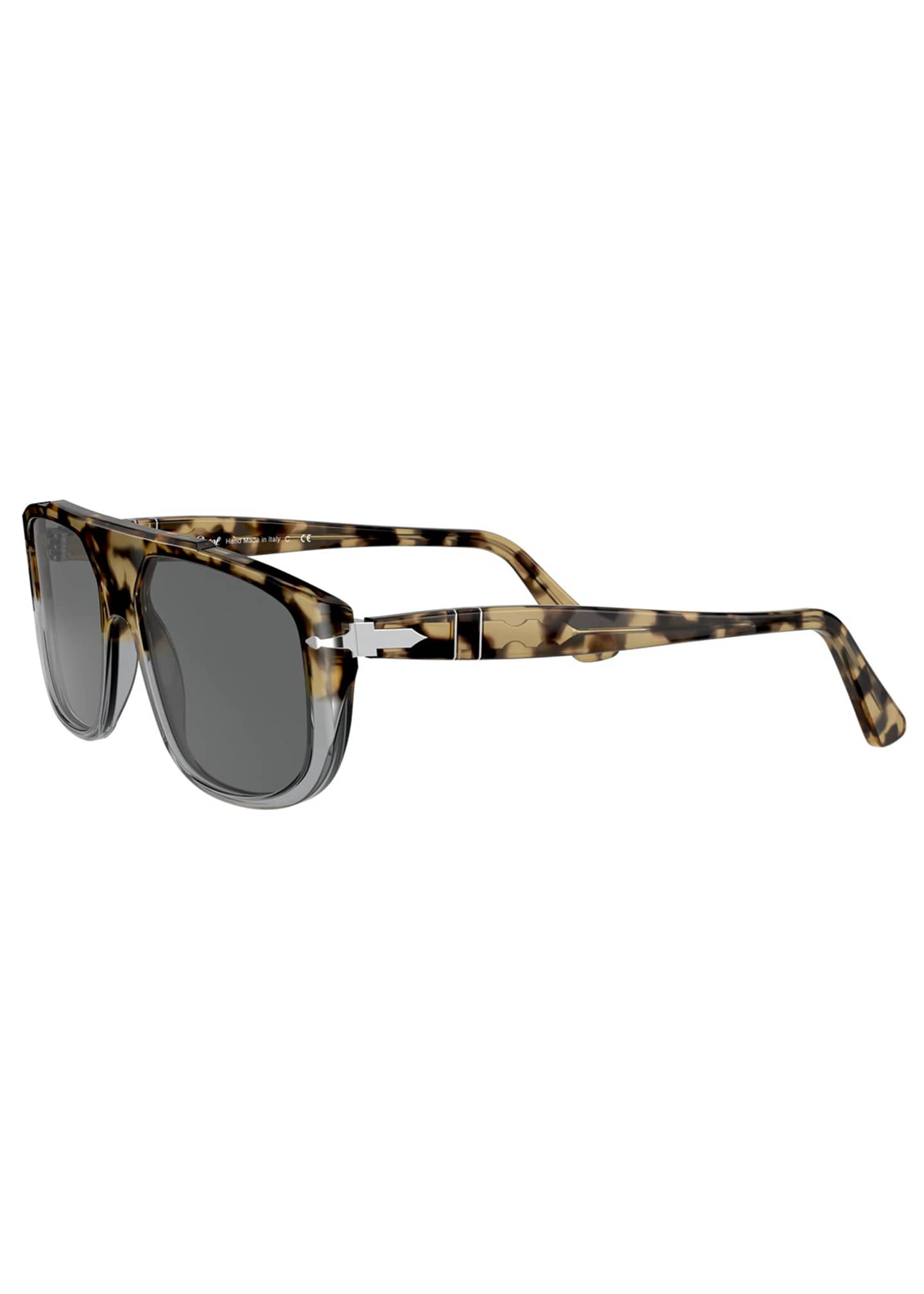 Image 4 of 4: Men's Square Colorblock Tortoiseshell Sunglasses