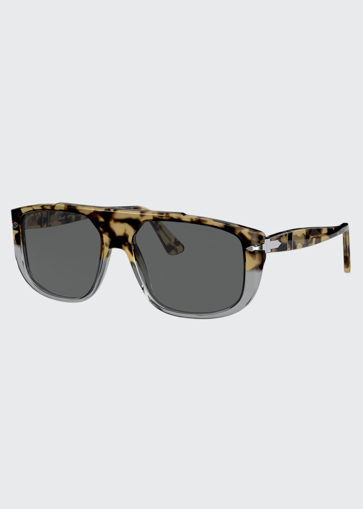 Image 1 of 4: Men's Square Colorblock Tortoiseshell Sunglasses