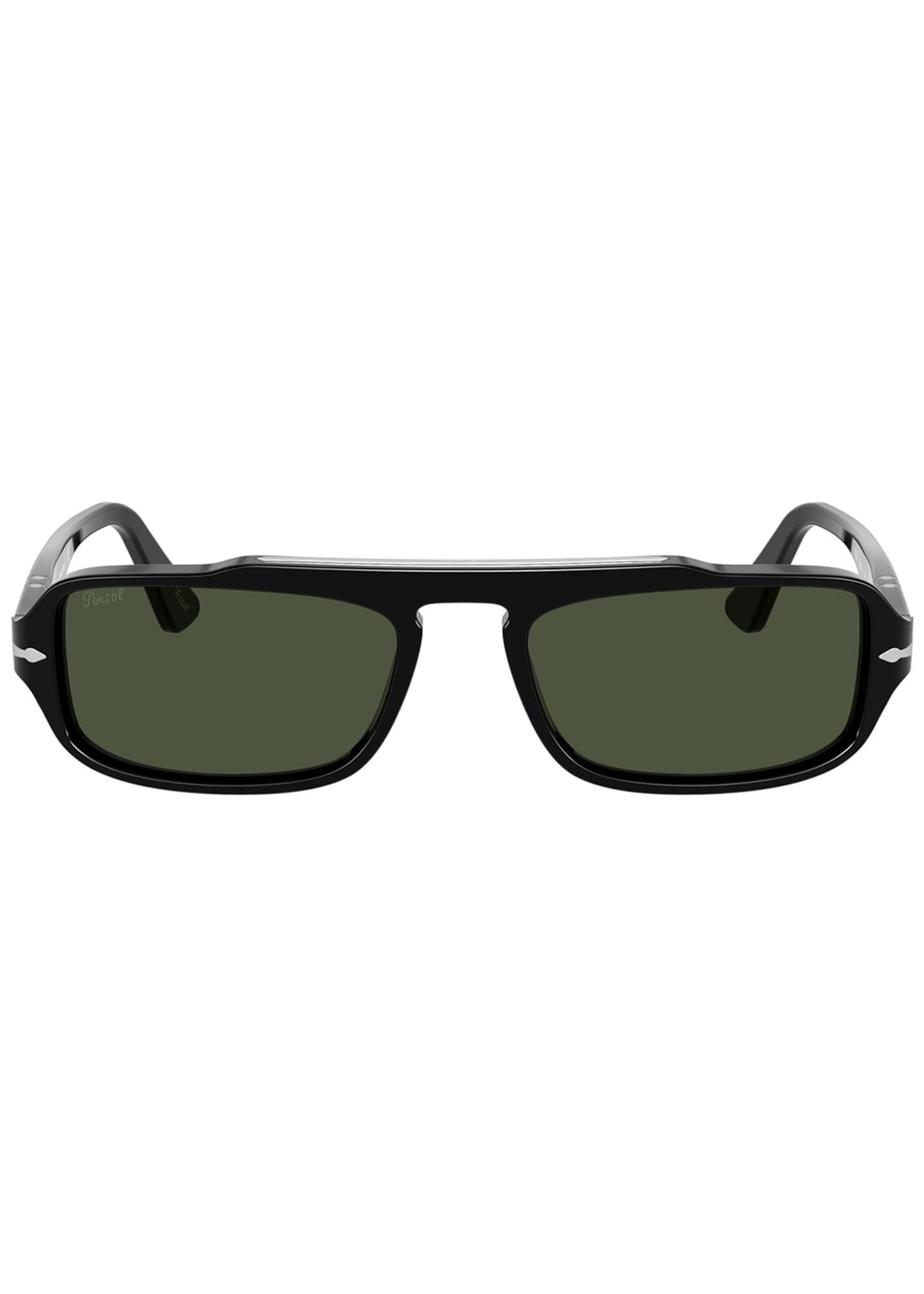 Image 2 of 4: Men's Rectangle Acetate Sunglasses