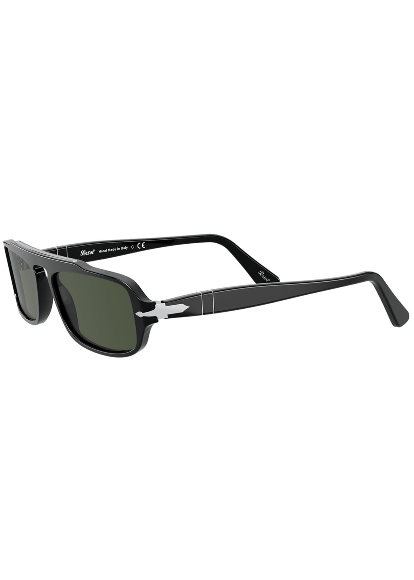 Image 4 of 4: Men's Rectangle Acetate Sunglasses