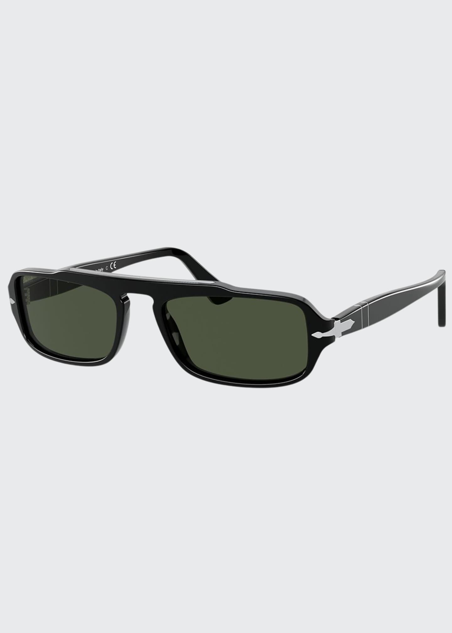 Image 1 of 4: Men's Rectangle Acetate Sunglasses
