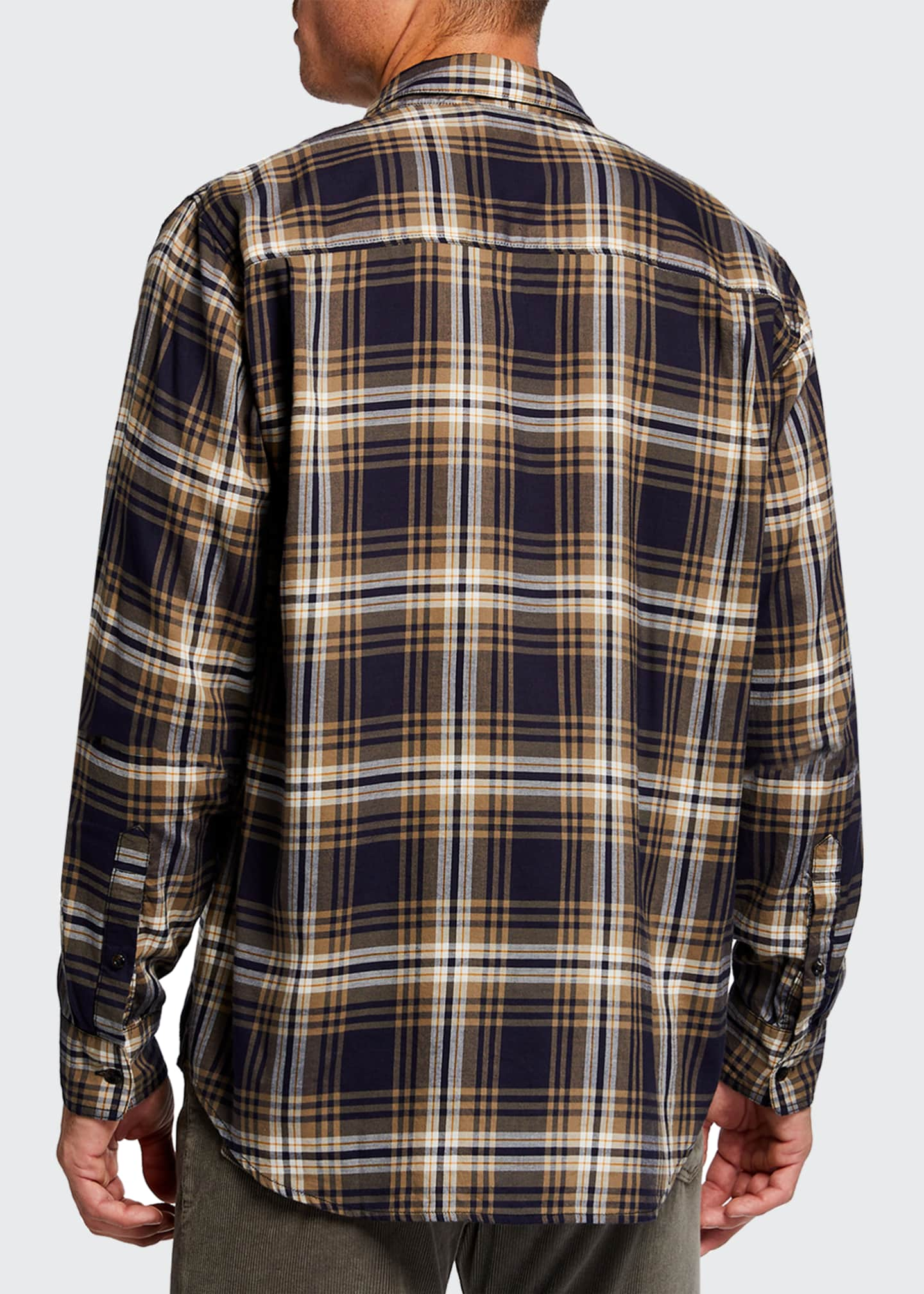 Image 2 of 2: Men's Plaid Single-Pocket Sport Shirt