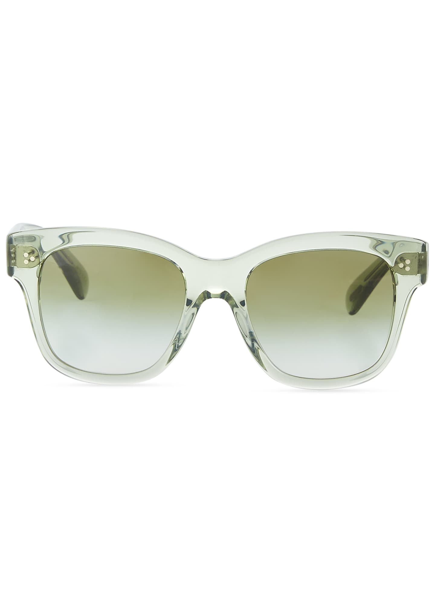 Image 2 of 3: Melery Oversized Square Acetate Sunglasses, Sage