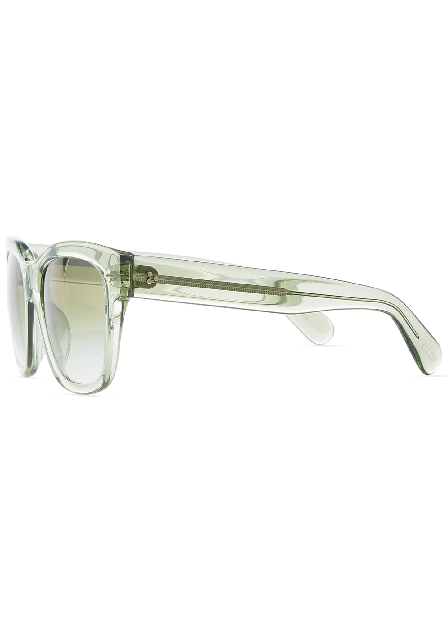 Image 3 of 3: Melery Oversized Square Acetate Sunglasses, Sage