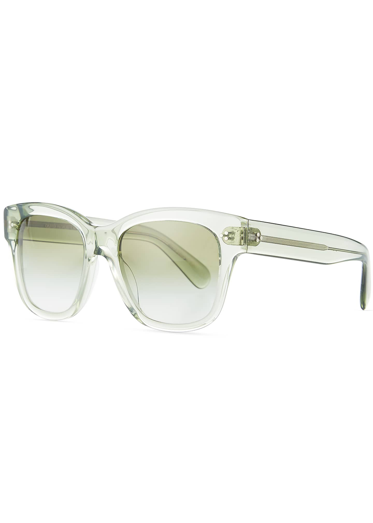 Image 1 of 3: Melery Oversized Square Acetate Sunglasses, Sage