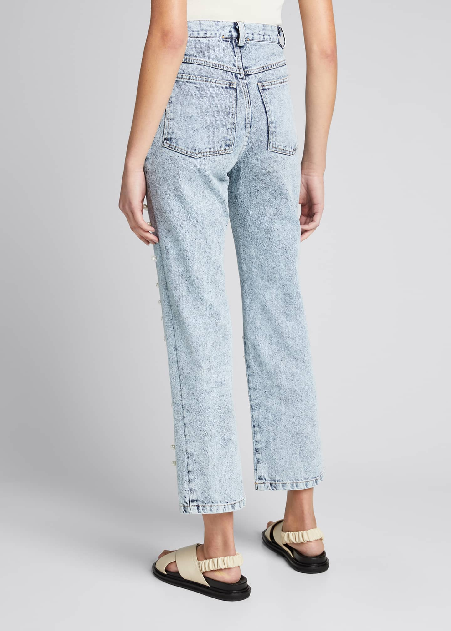 Image 2 of 5: Betty Acid Wash Pearl Jeans