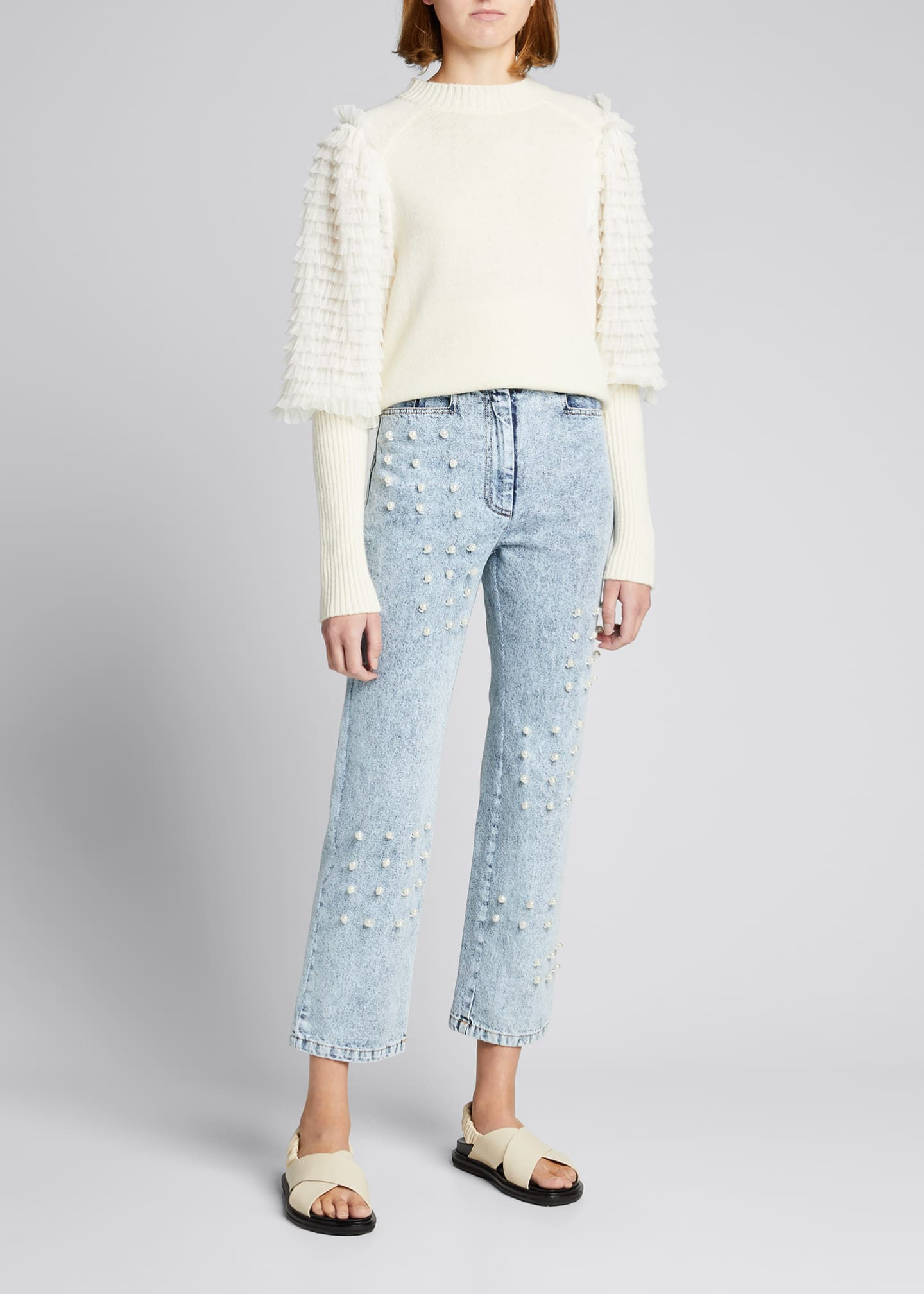 Image 1 of 5: Betty Acid Wash Pearl Jeans