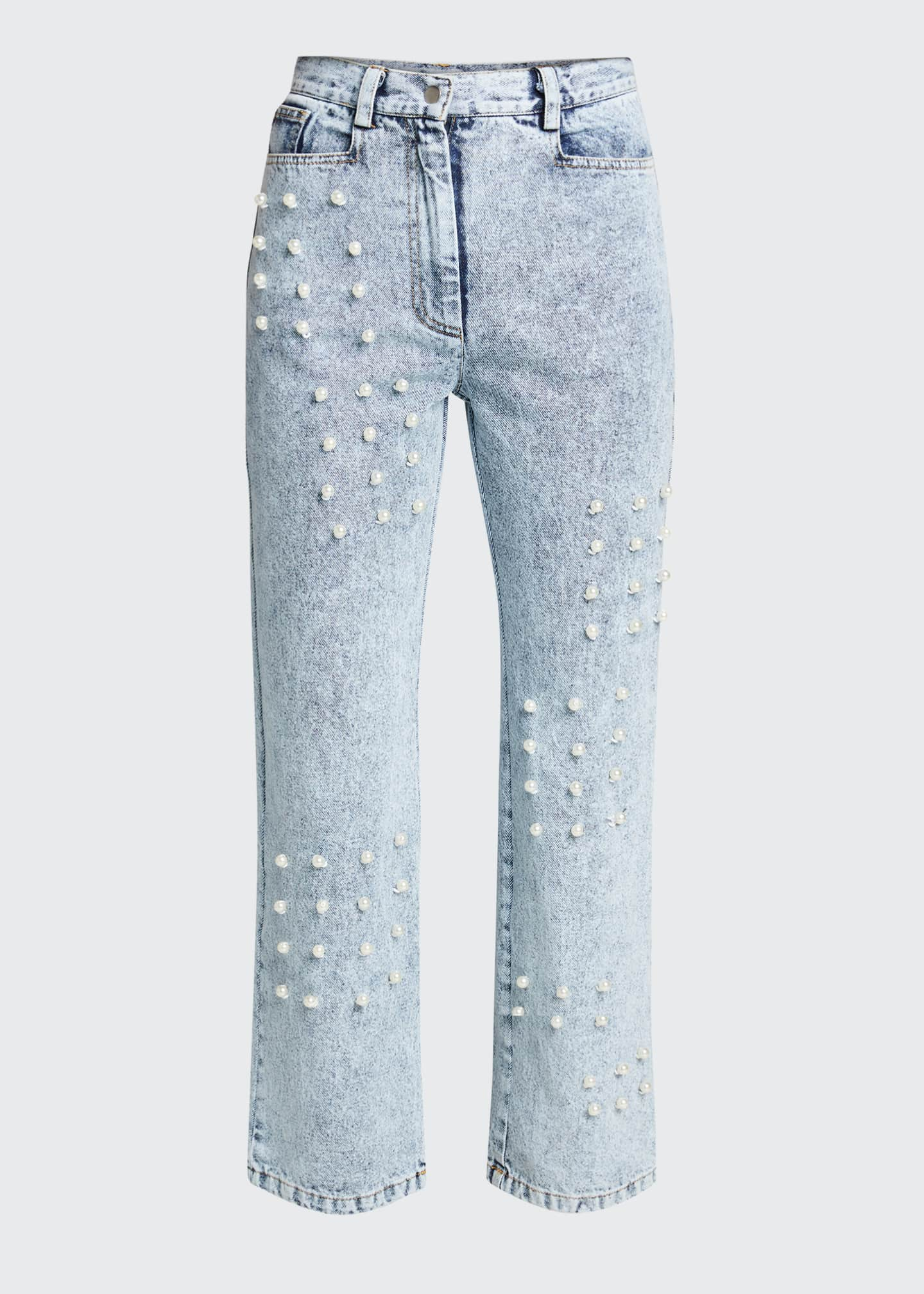 Image 5 of 5: Betty Acid Wash Pearl Jeans