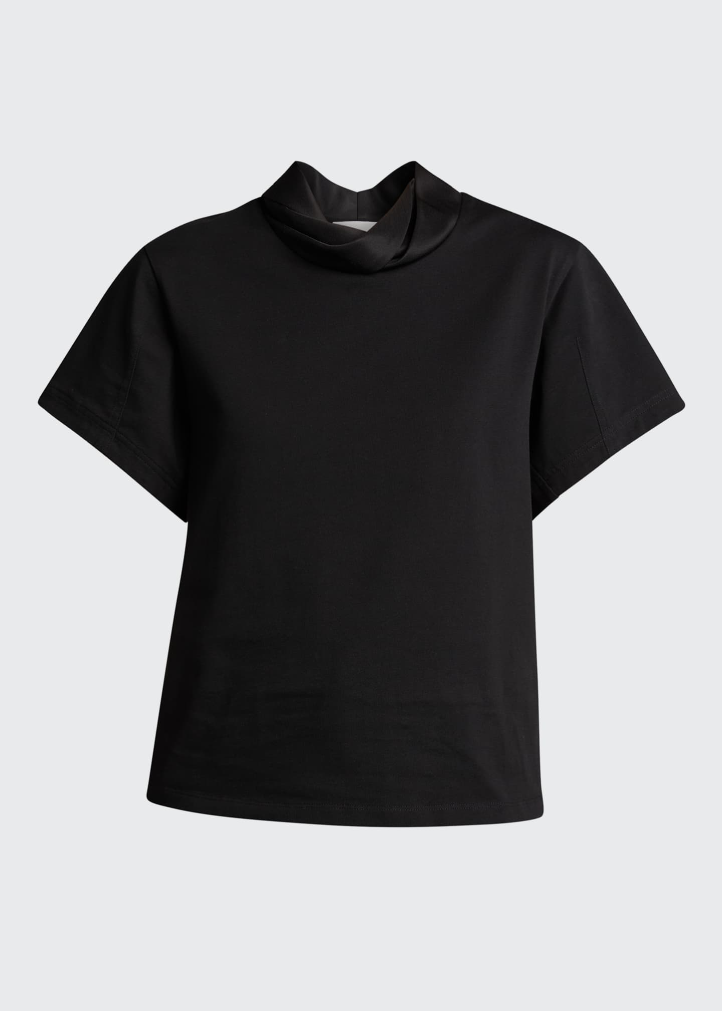 Image 5 of 5: Short-Sleeve Folded-Collar T-Shirt
