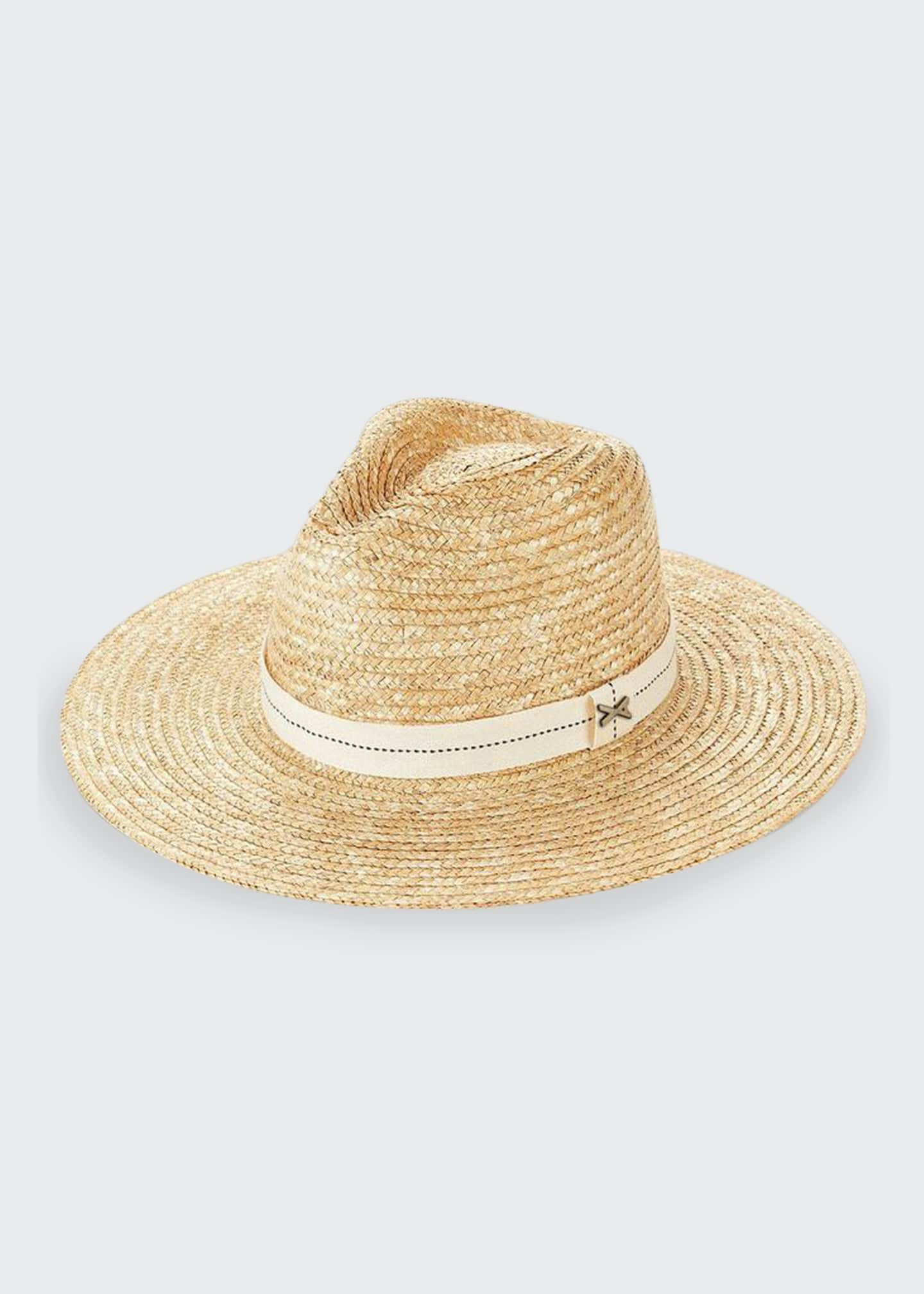 Image 1 of 1: Provence Wide-Brim Straw Fedora Hat