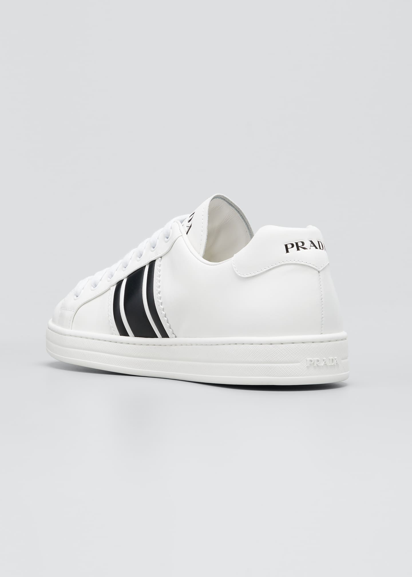 Image 2 of 3: Men's Two-Tone Logo Leather Sneakers
