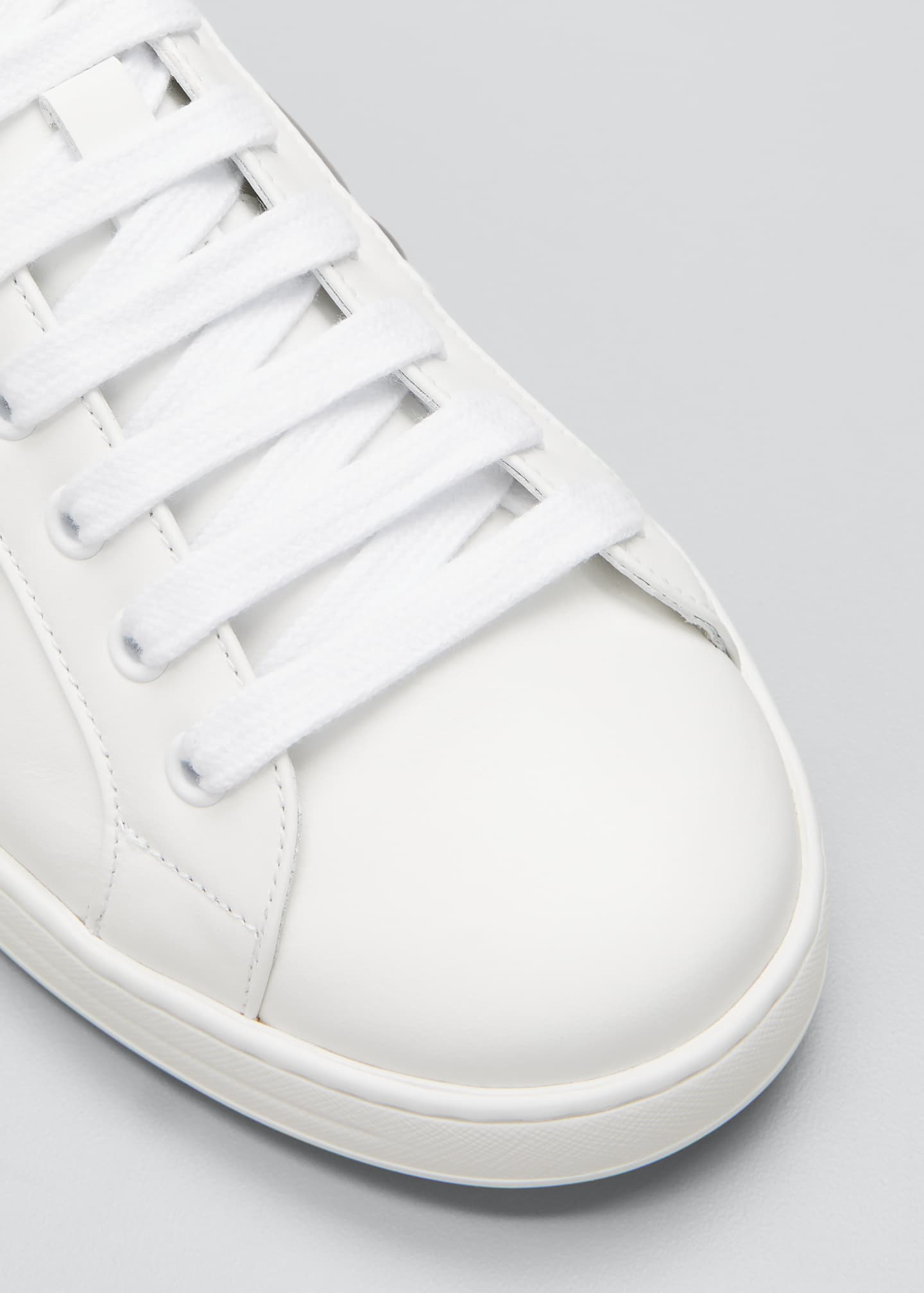 Image 3 of 3: Men's Two-Tone Logo Leather Sneakers