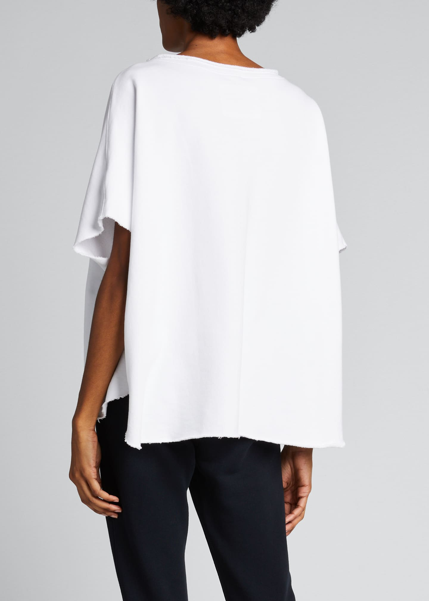 Image 2 of 5: Capelet Raw-Edge Tee