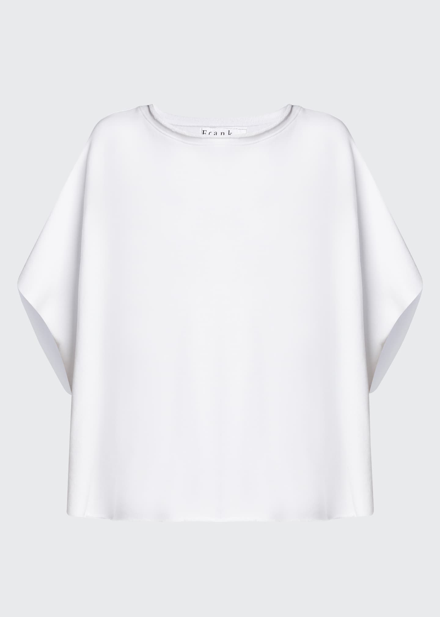 Image 5 of 5: Capelet Raw-Edge Tee