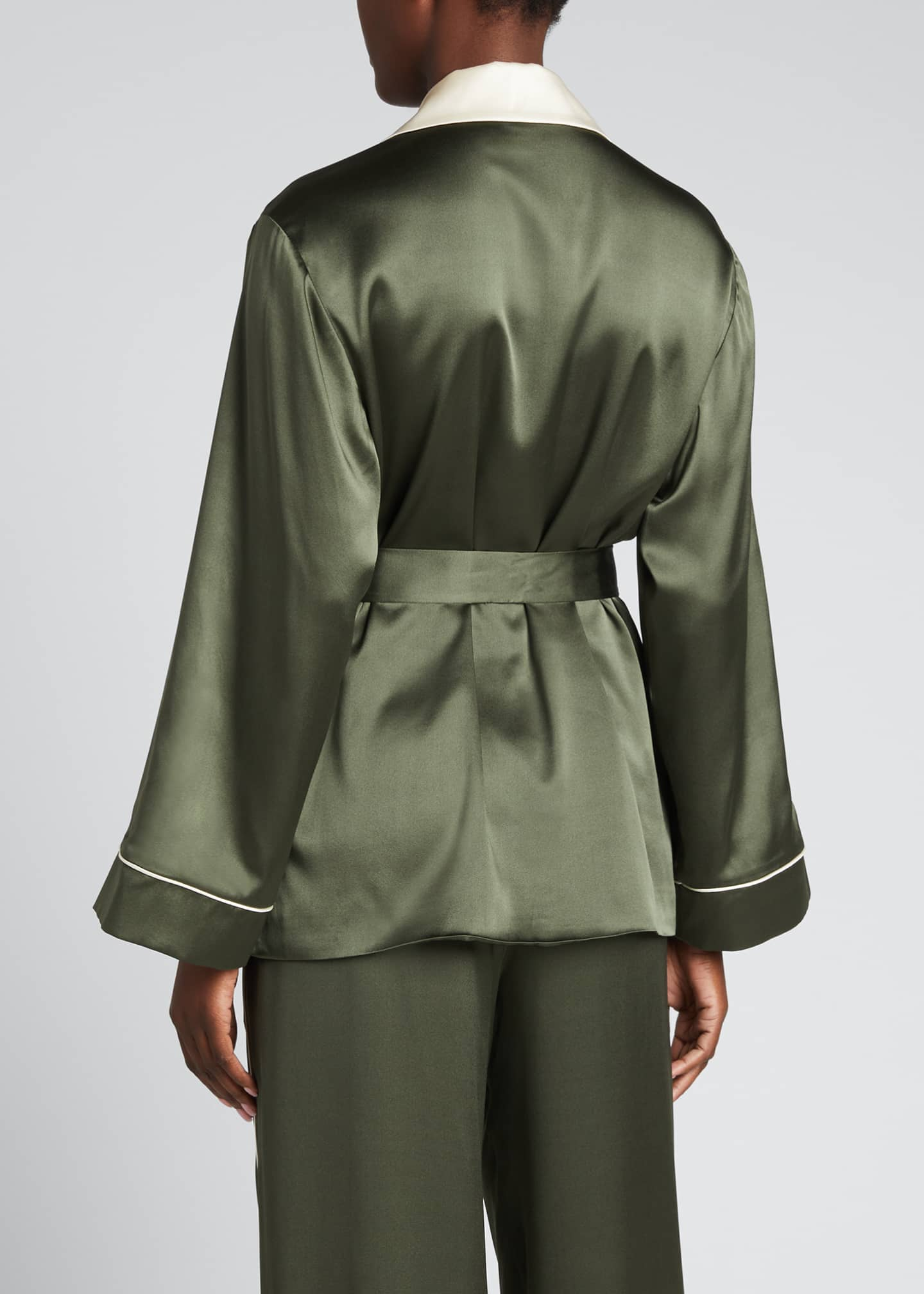 Image 2 of 5: Selina Charmeuse Short Robe Jacket