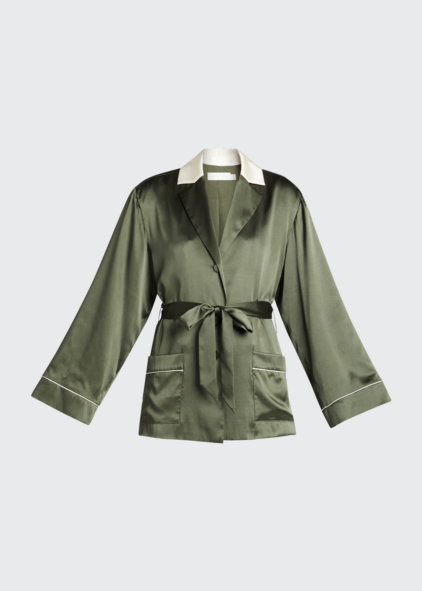 Image 5 of 5: Selina Charmeuse Short Robe Jacket