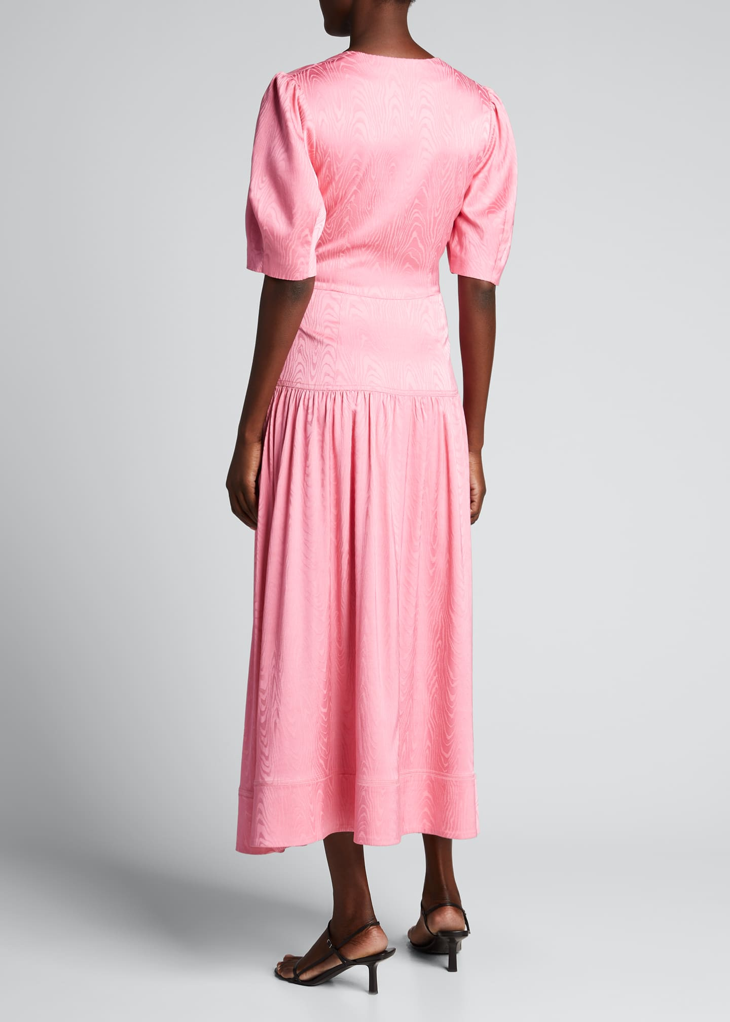 Image 2 of 5: Rumi Moire Jacquard Square-Neck Dress