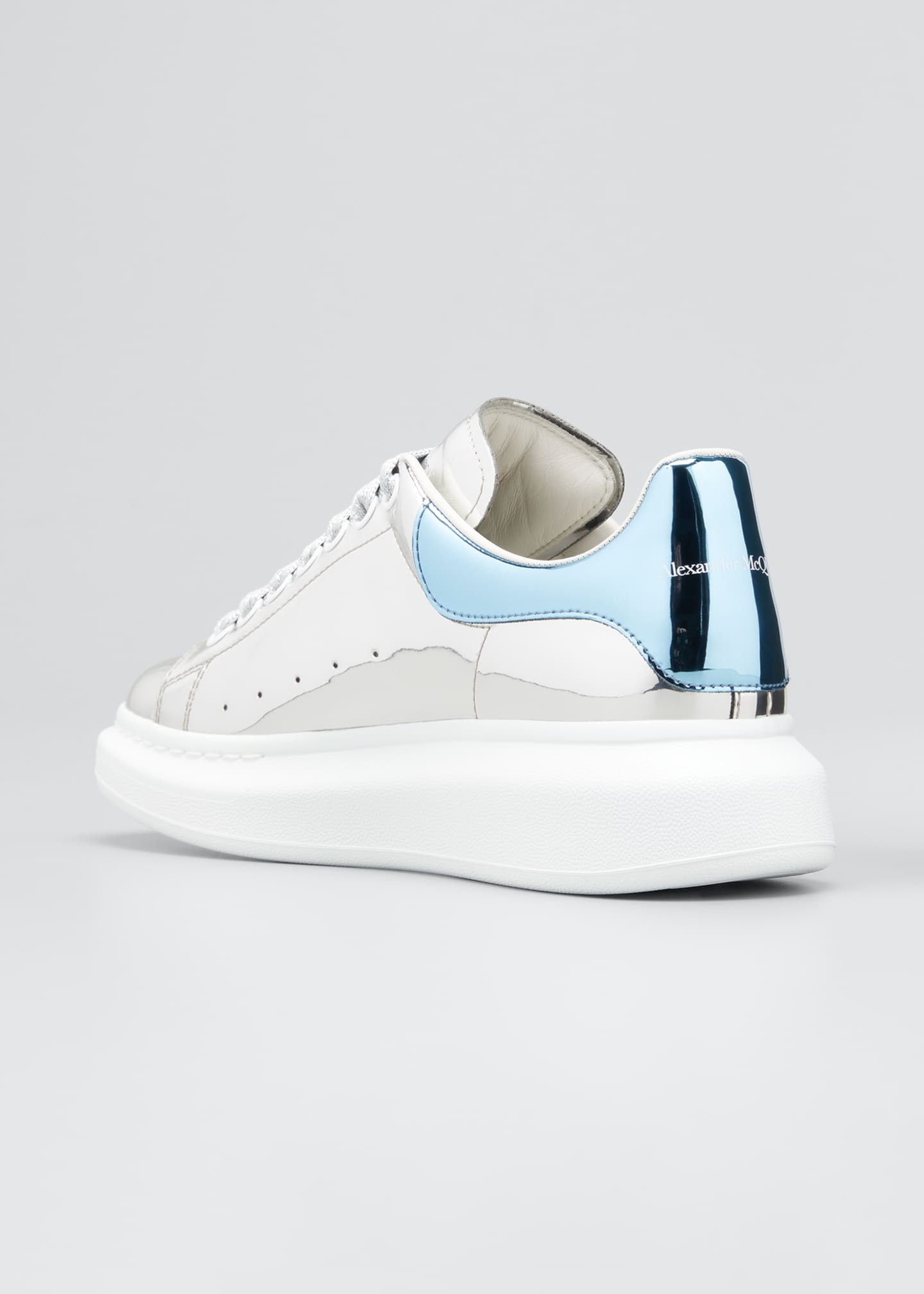 Image 2 of 3: Men's Metallic Leather Chunky Sneakers