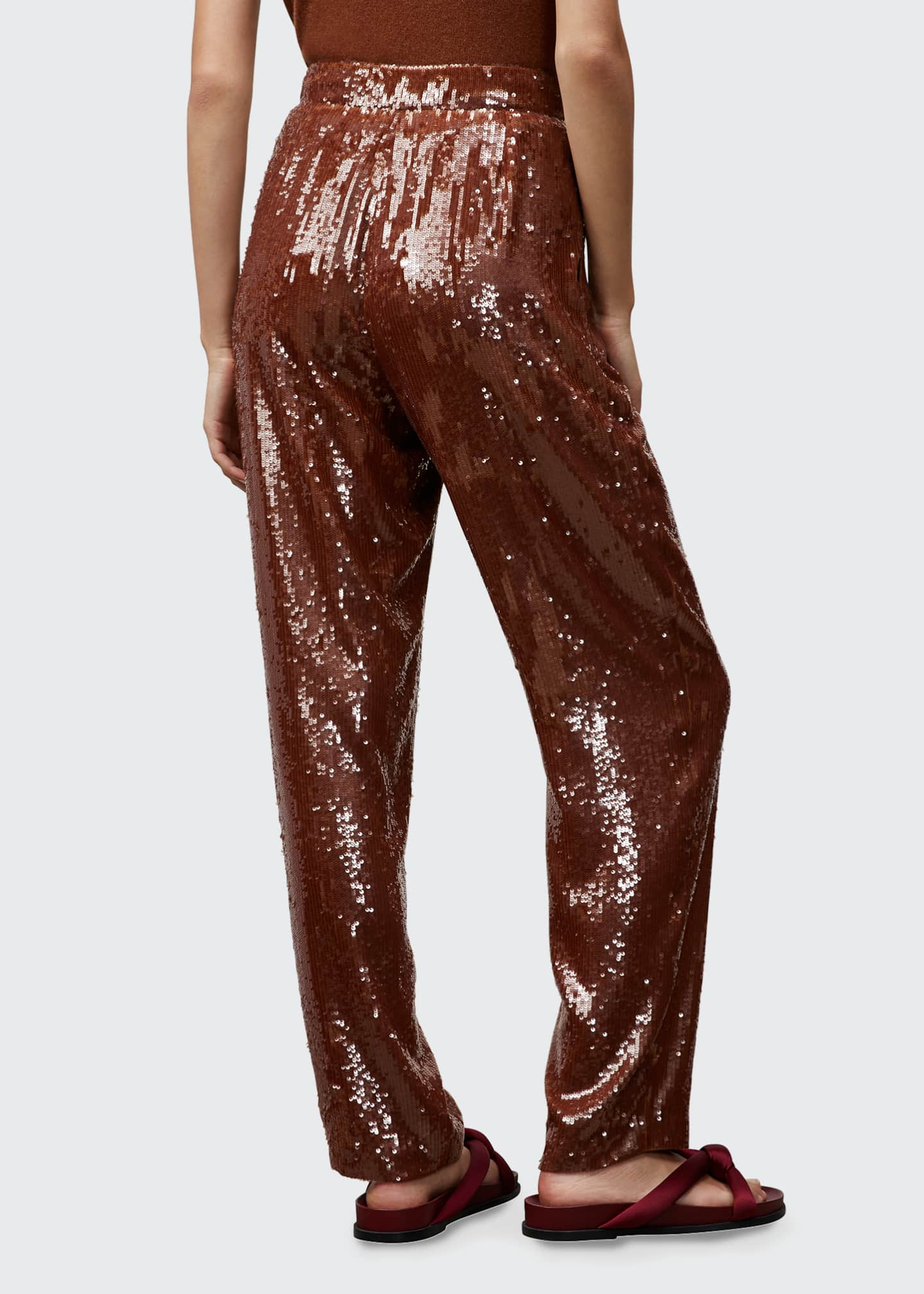 Image 2 of 2: Franklin High-Rise Sequin Pants