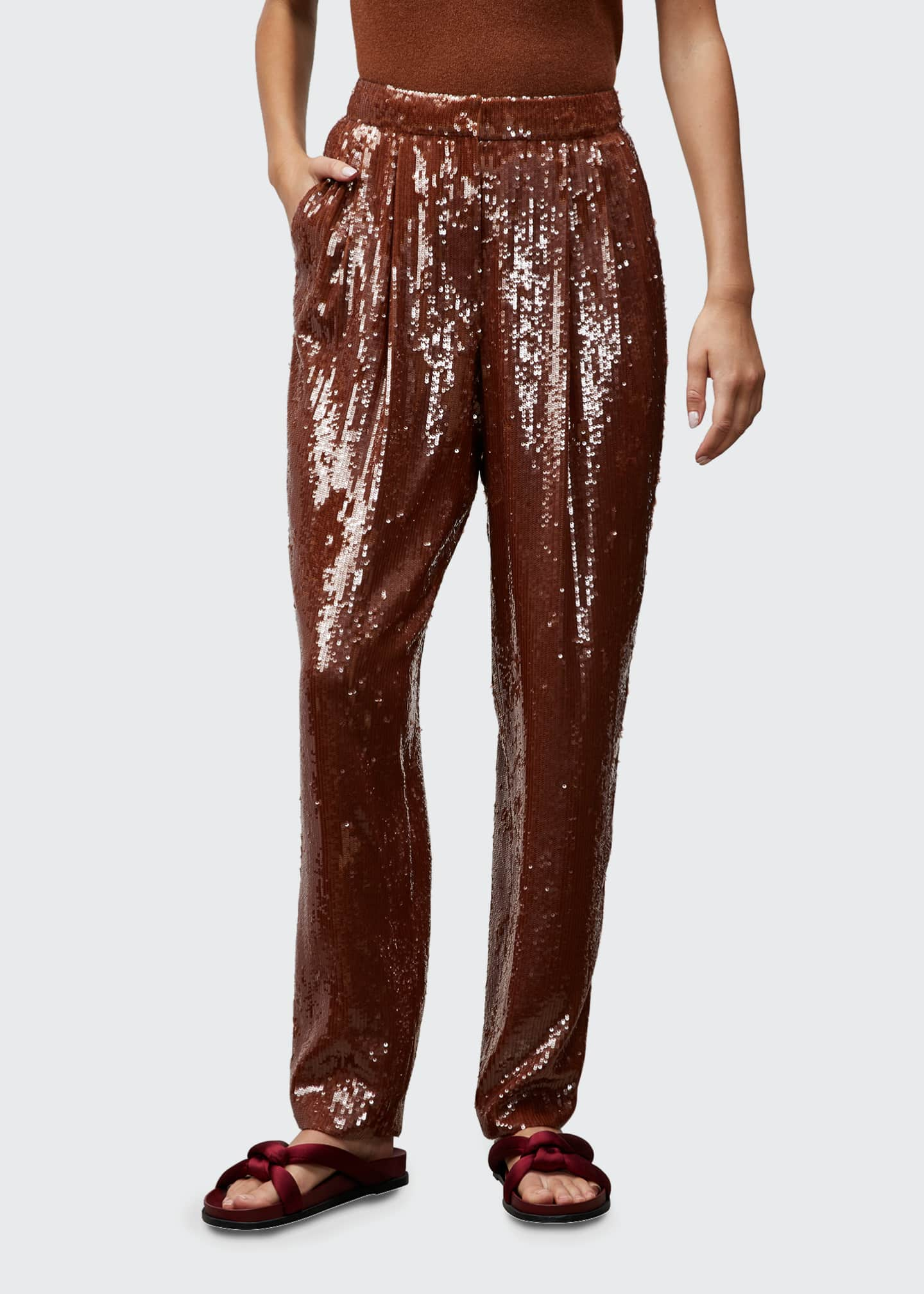 Image 1 of 2: Franklin High-Rise Sequin Pants