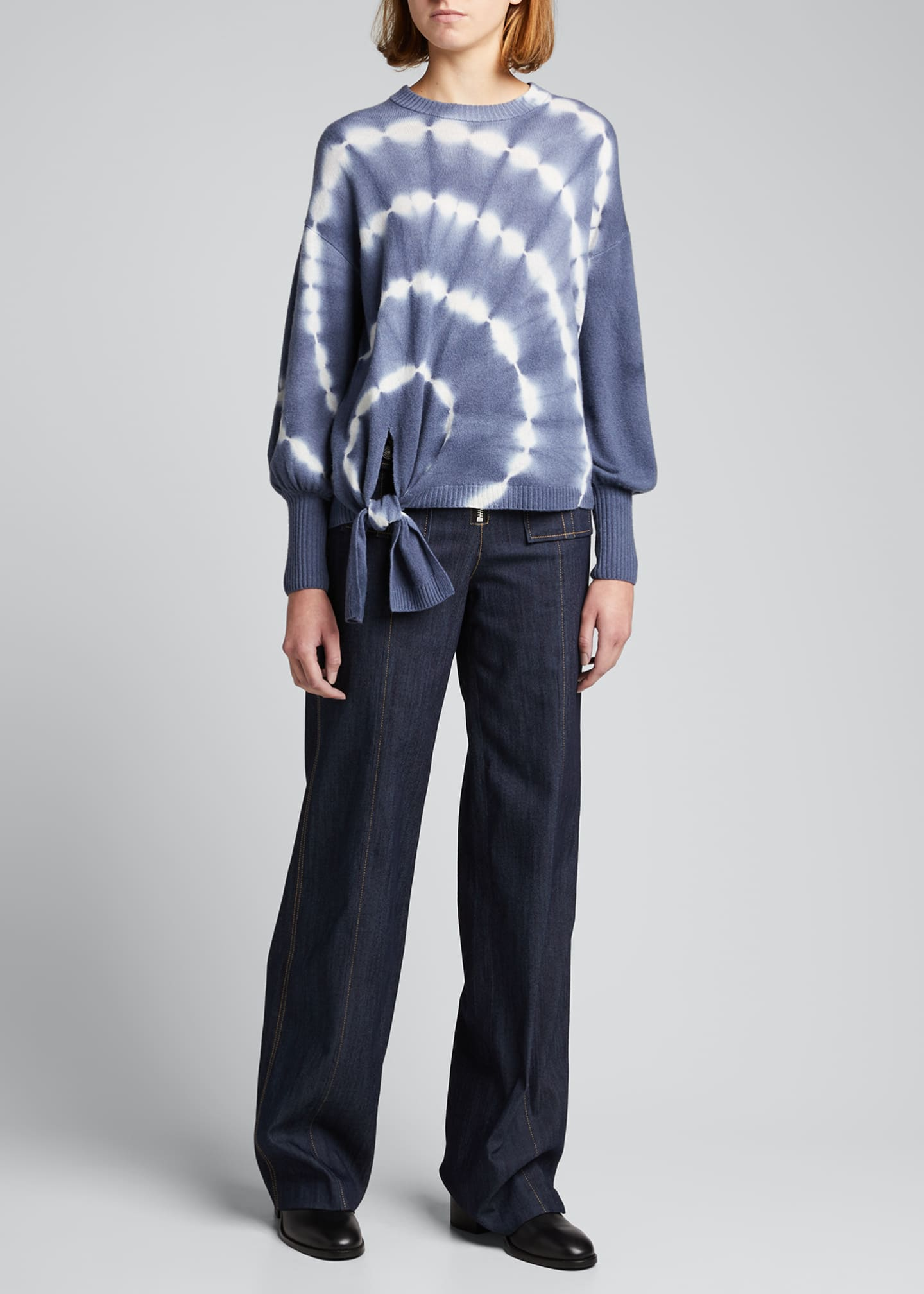 Image 1 of 5: Clerisa Tie-Dye Pullover Sweater
