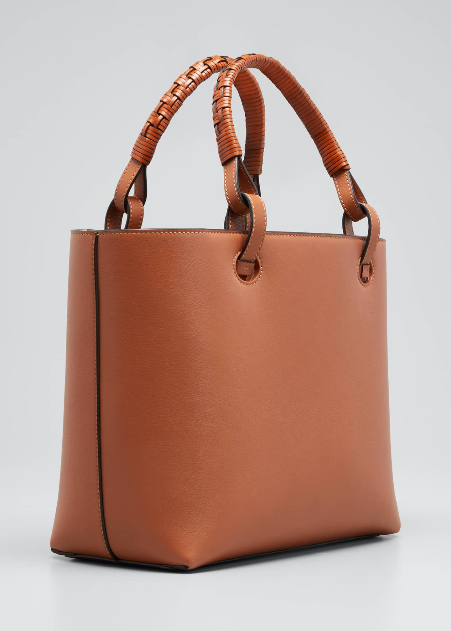 Image 3 of 3: Anagram Small Classic Leather Tote Bag
