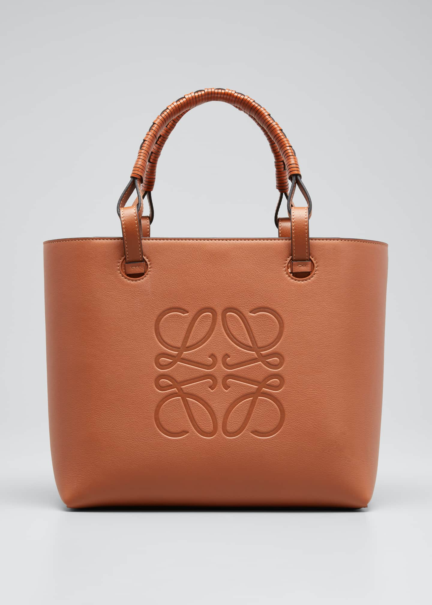 Image 1 of 3: Anagram Small Classic Leather Tote Bag