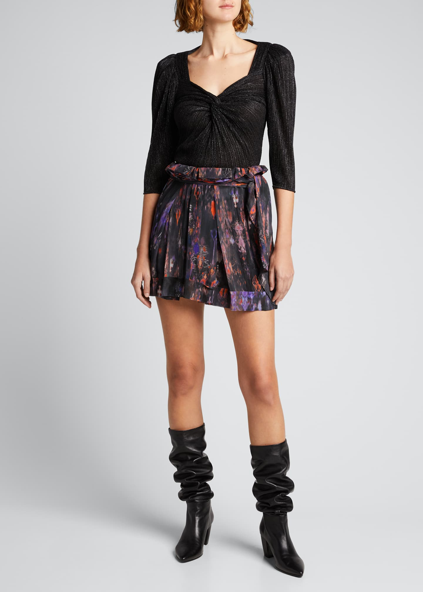 Image 1 of 5: Dollie Twisted Metallic Top