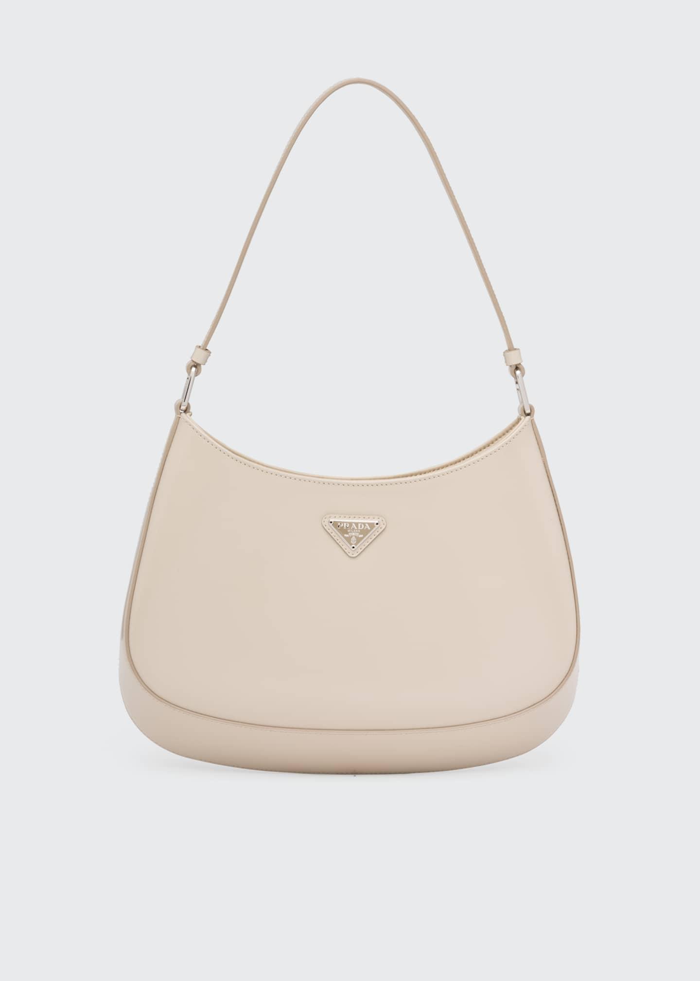 Image 1 of 4: Cleo Brushed Leather Hobo Bag