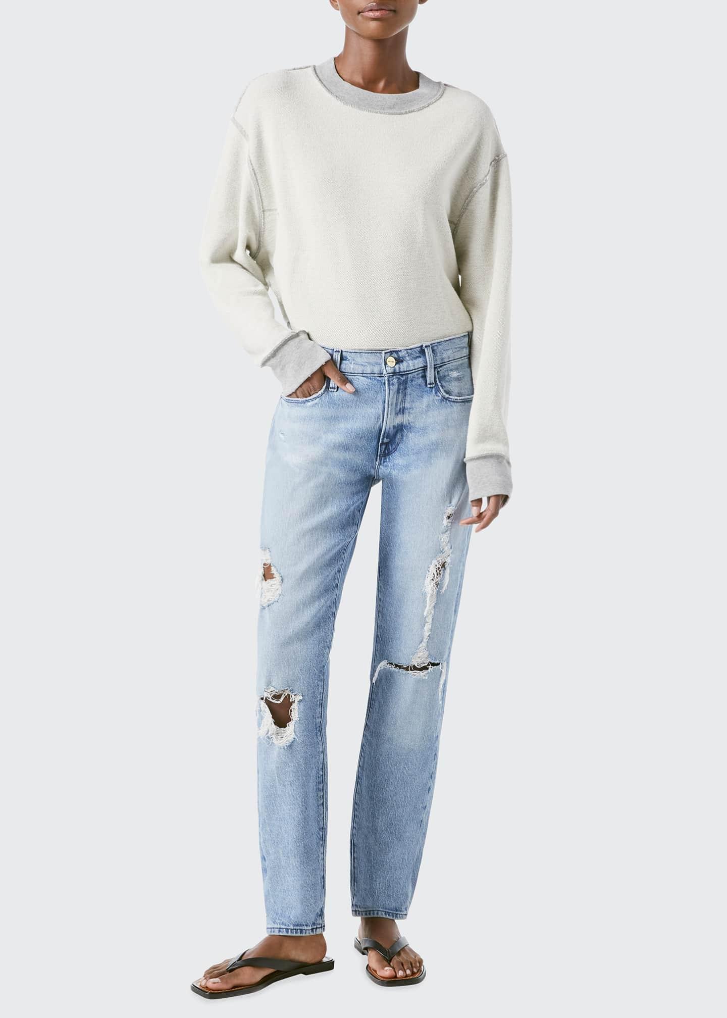 Image 1 of 3: Le Garcon Distressed Boyfriend Jeans